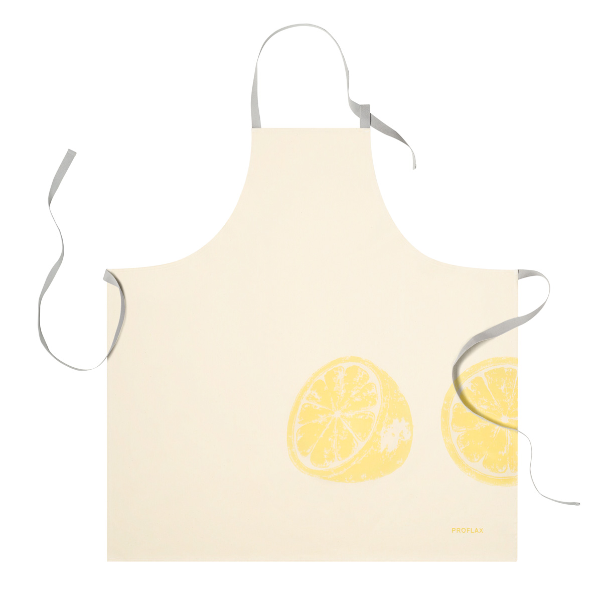PROFLAX Schürze, Motiv Zitronen, gelb, 80x80cm, 100% Baumwolle