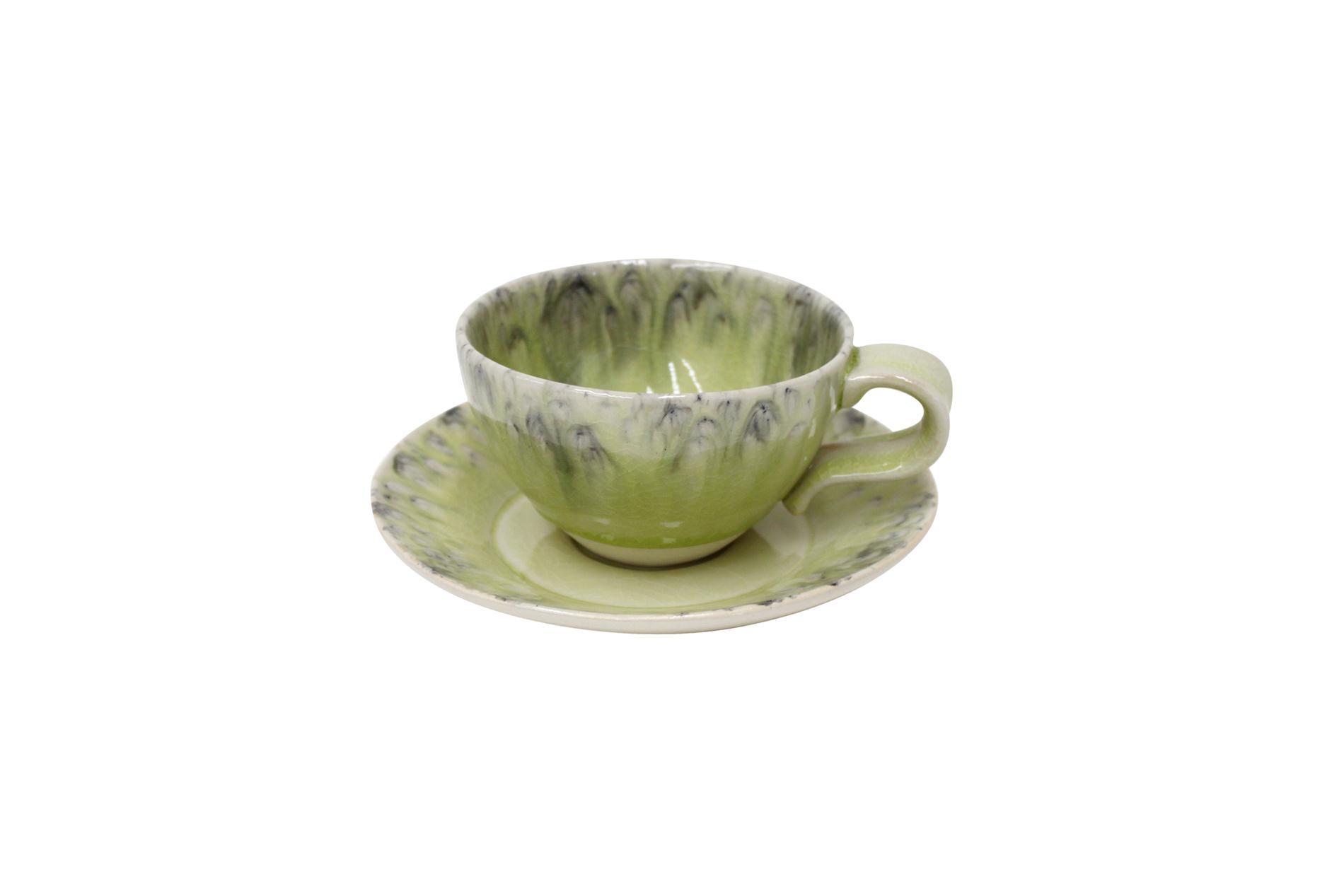Gedeck / Kaffee / Tee 2-teilig /  Ober- und Untertasse, Madeira, grün