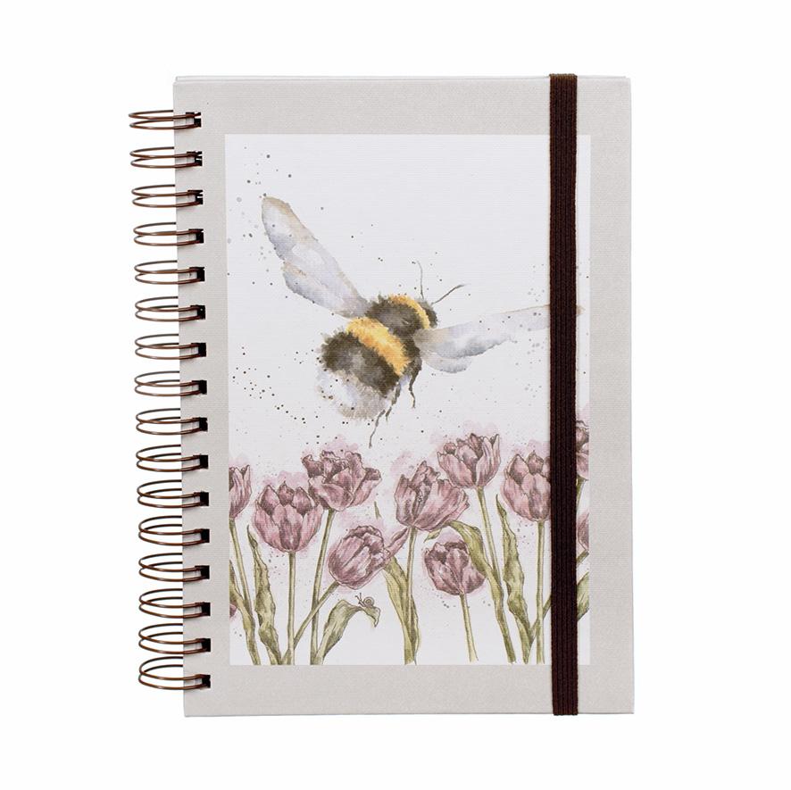Wrendale Ringbuch, DIN A5, Motiv Hummel & Blumen
