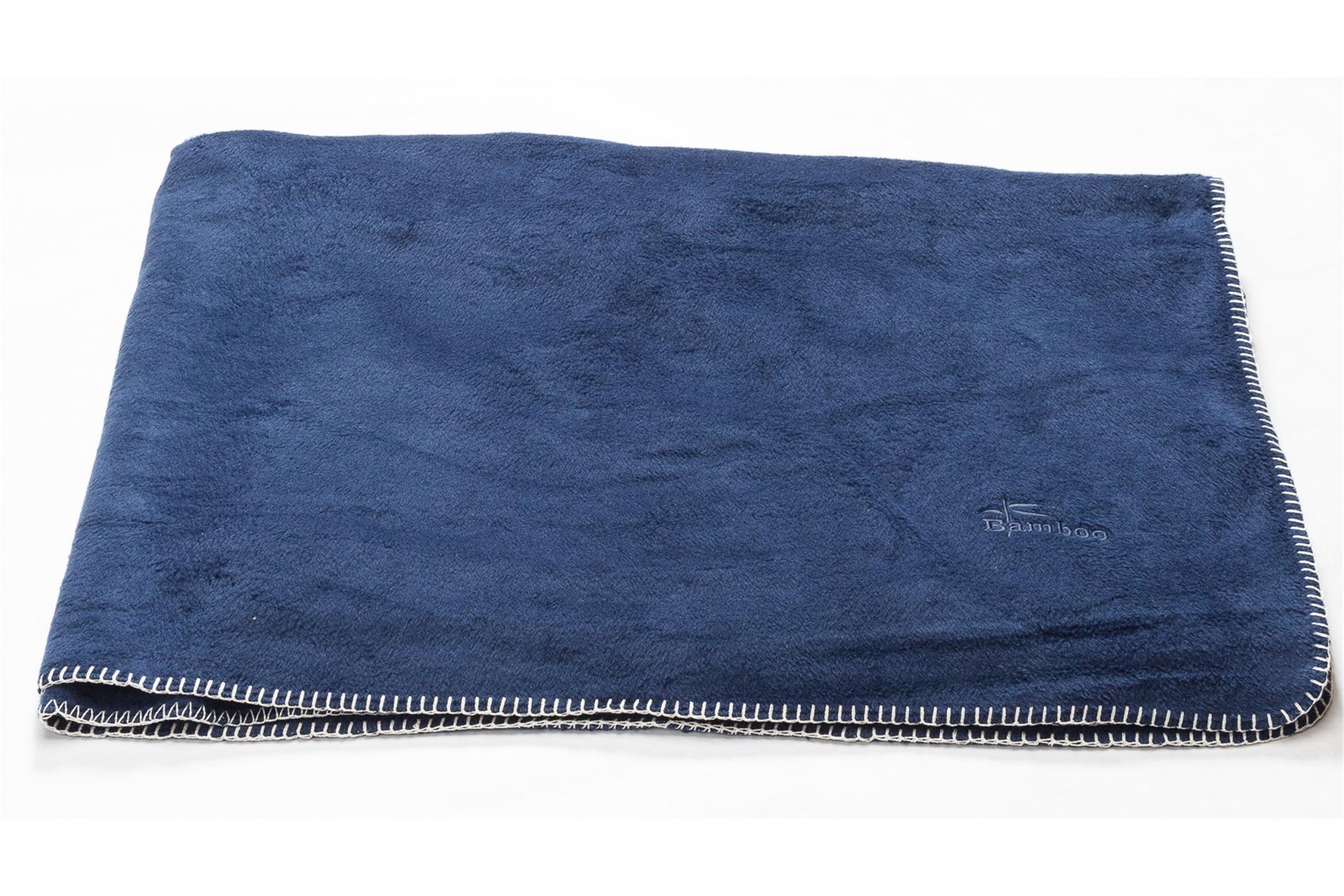 DAVID FUSSENEGGER Decke Bamboo blau 150x200 cm