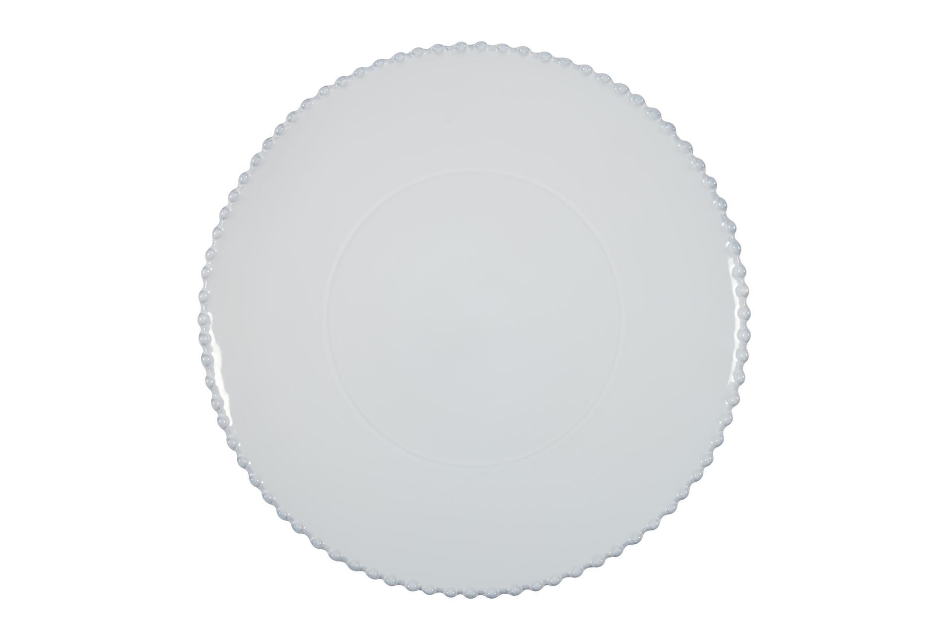 Platzteller Pearl weiß, 33 cm