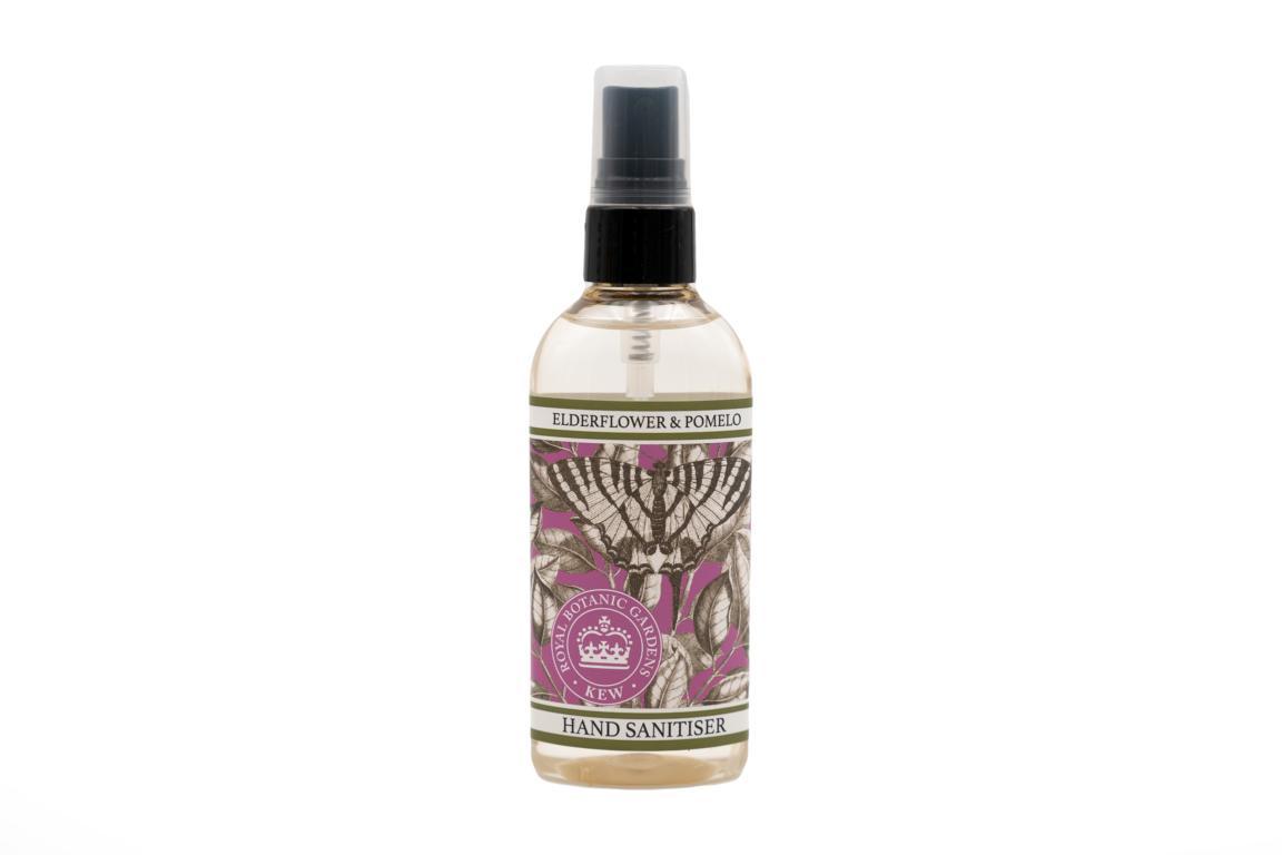 Kew Garden Desinfektionsspray für Hände, Holunder & Pomelo, 100 ml