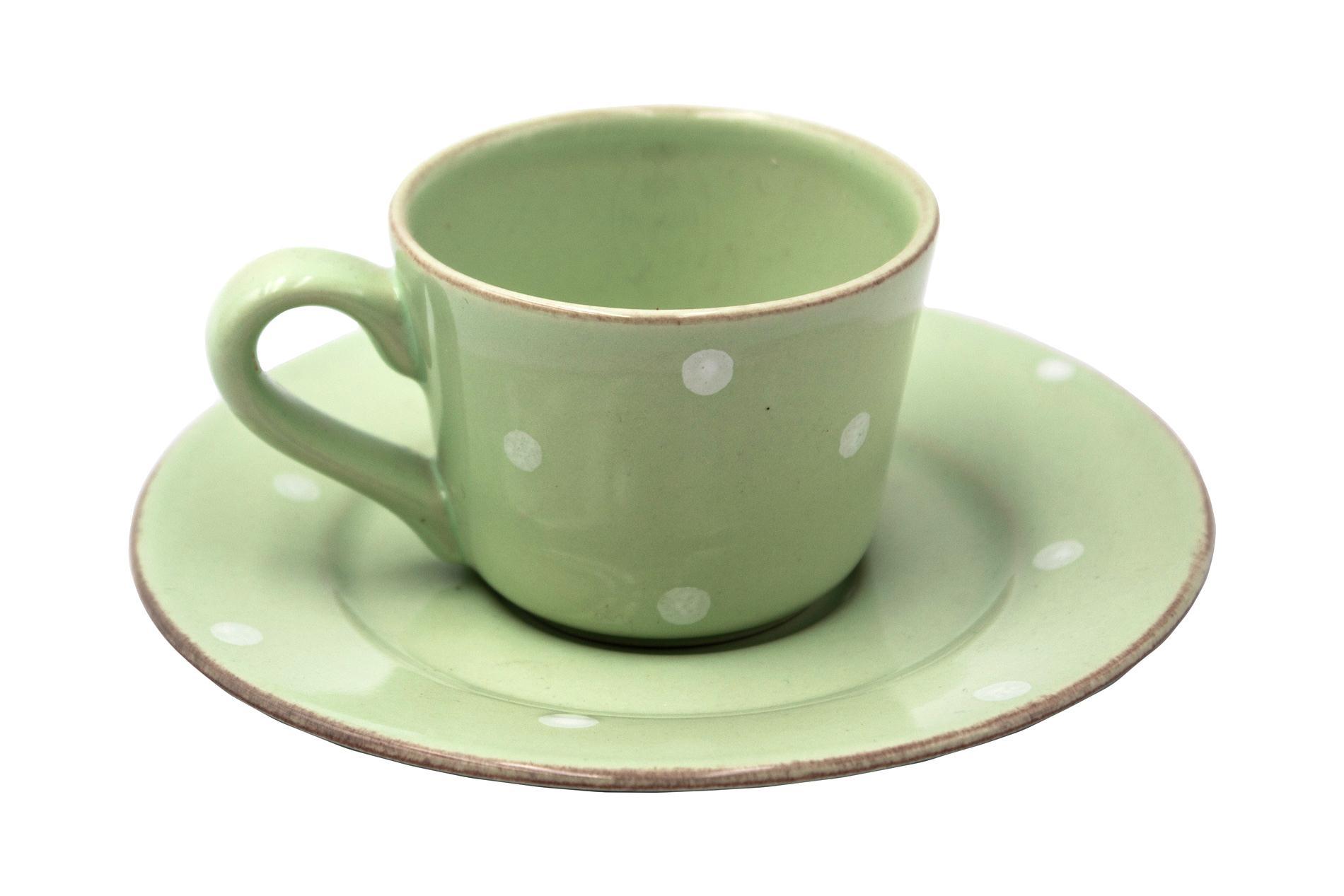 Gedeck Espressotasse und Untertasse CHITRA, grün, 0,08 l