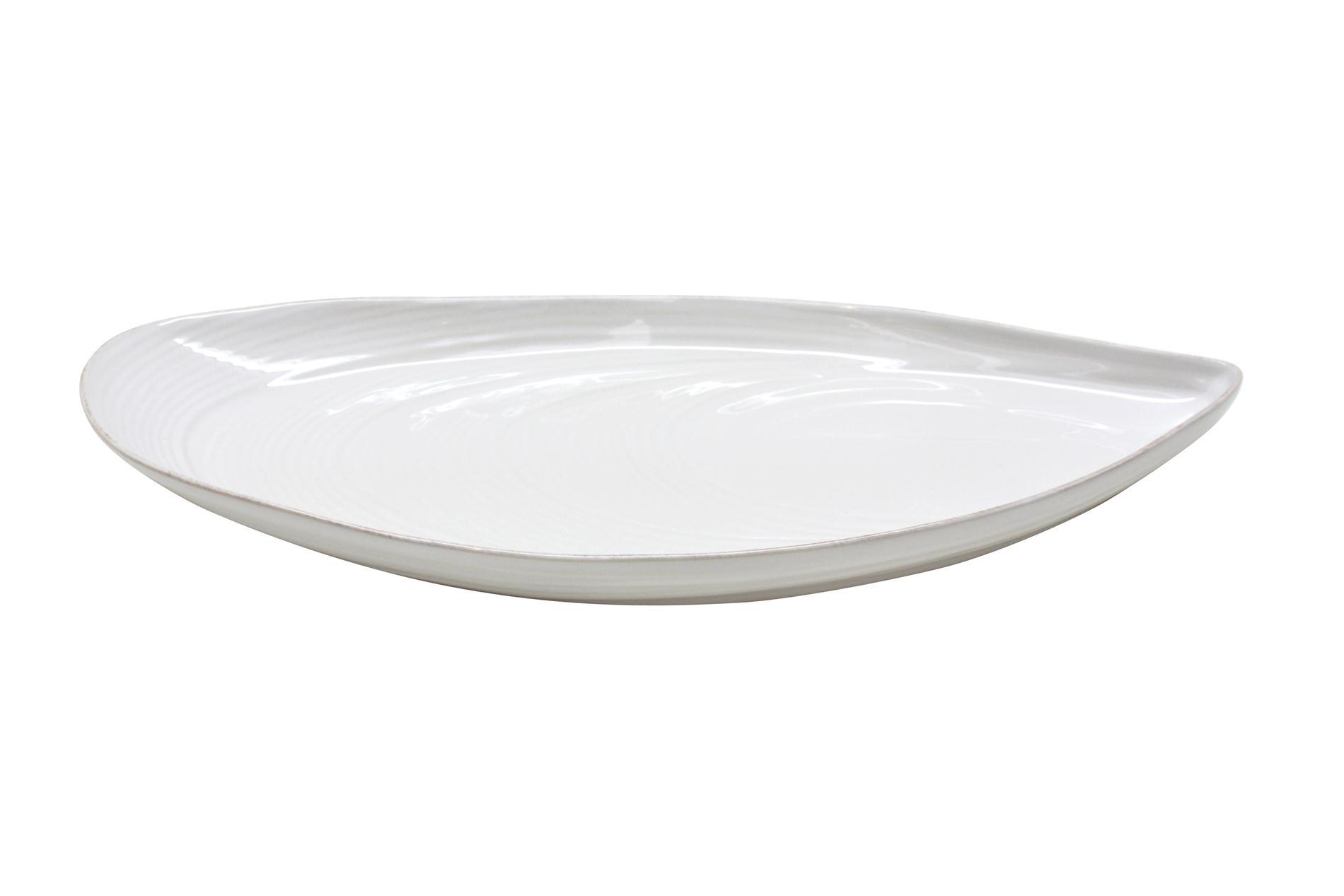 Platte/ Schale Muschelform, Mare, weiß, 45 cm