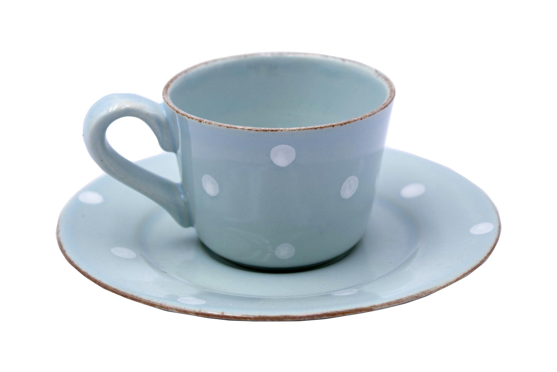 Gedeck Espressotasse und Untertasse CHITRA, blau, 0,08 l
