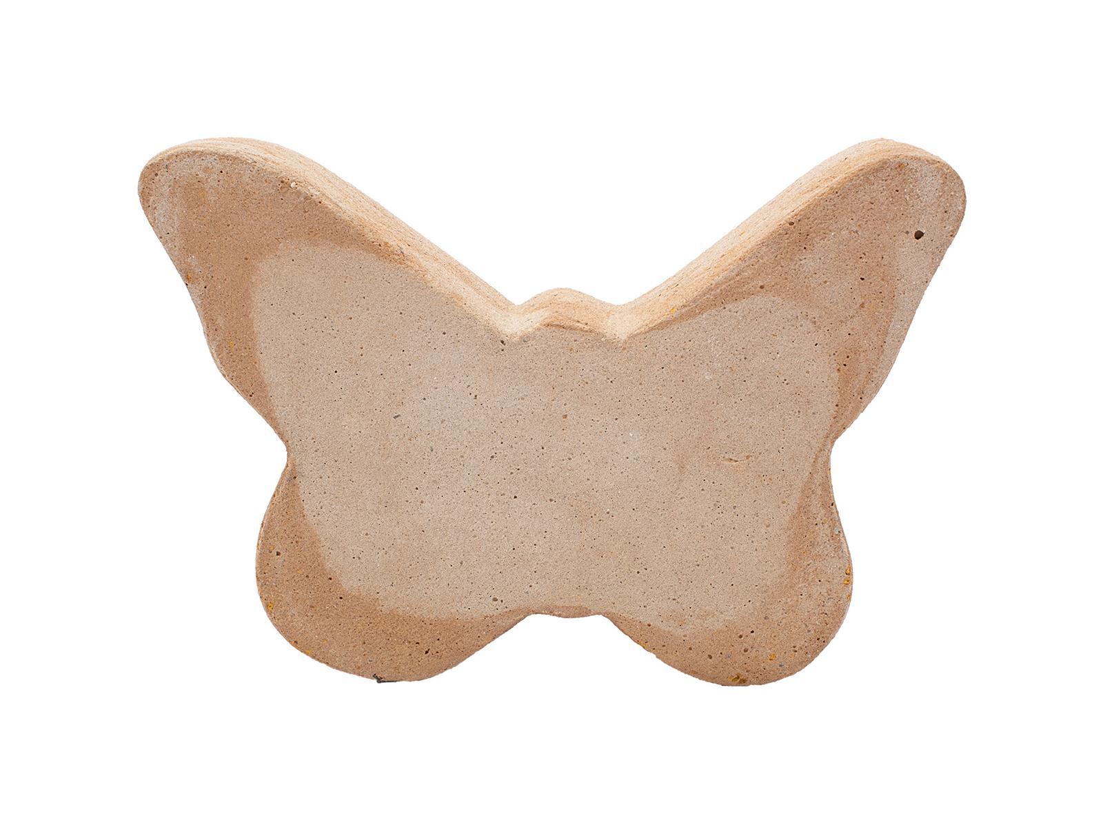 Schmetterling, Sandstein, klein, 15x22x4cm
