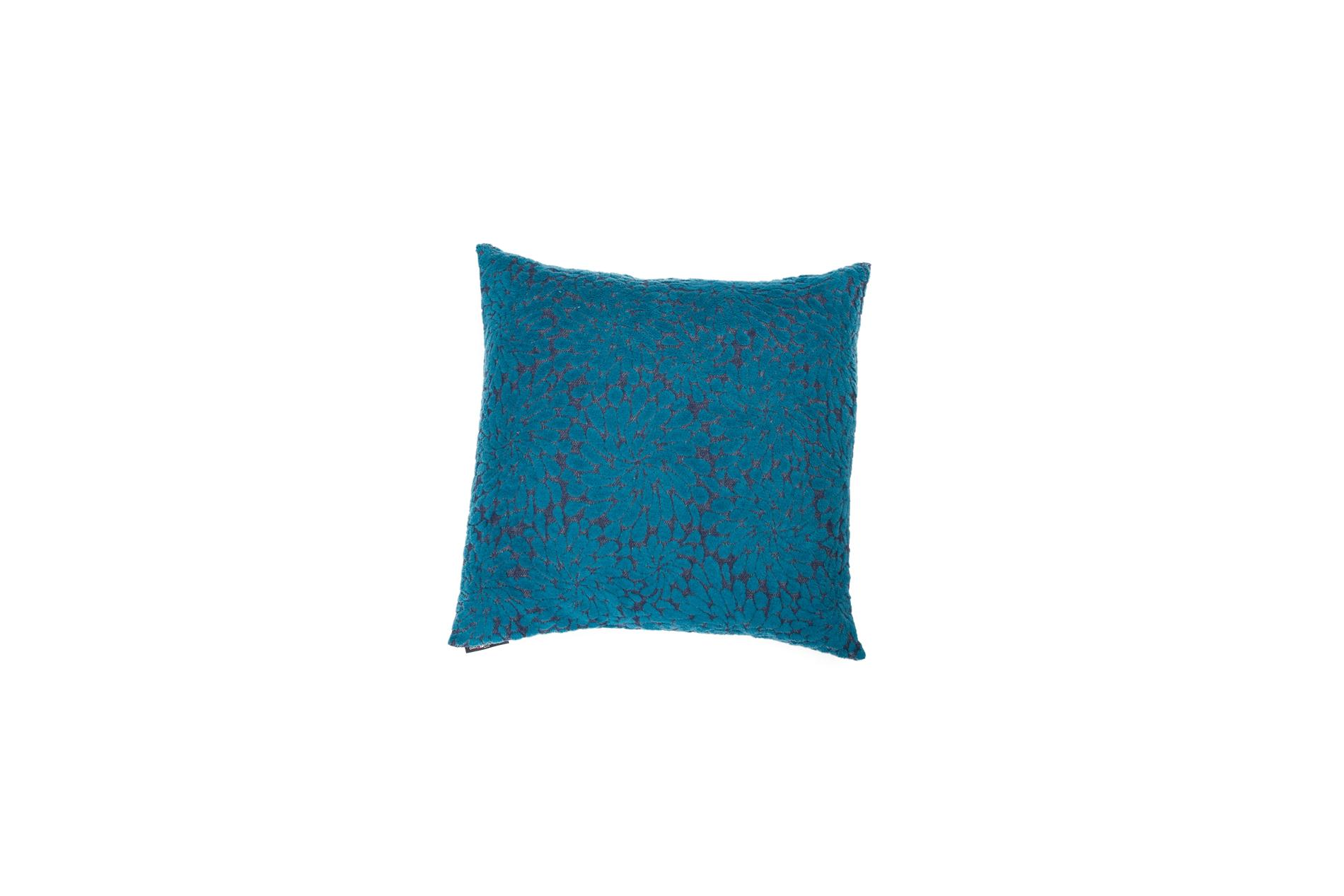 "DAVID FUSSENEGGER Kissenhülle Deco, ""stilisierte Blüten"", navy/blau, 60x60 cm"