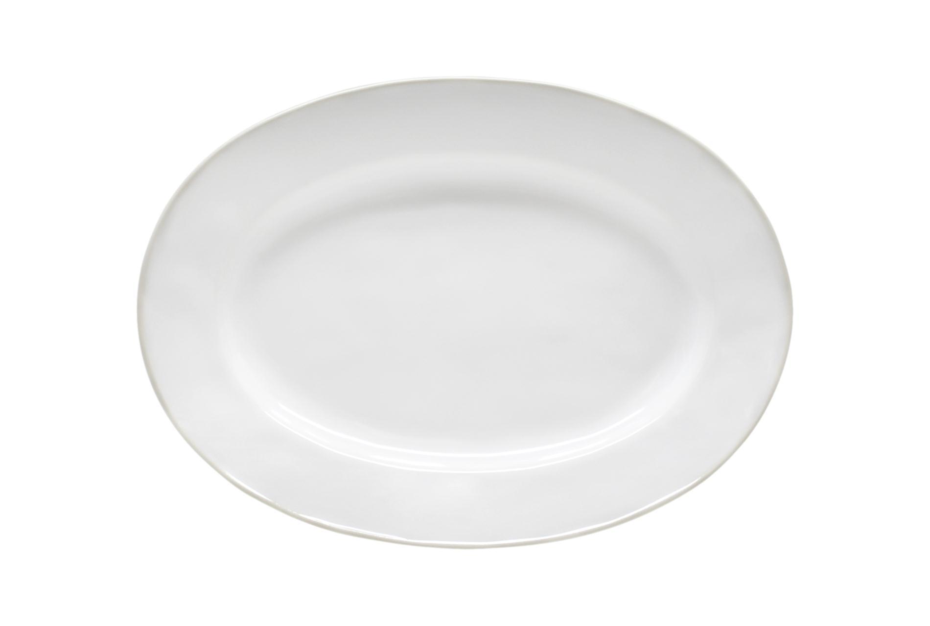 Platte oval Astoria, weiß, 30 cm