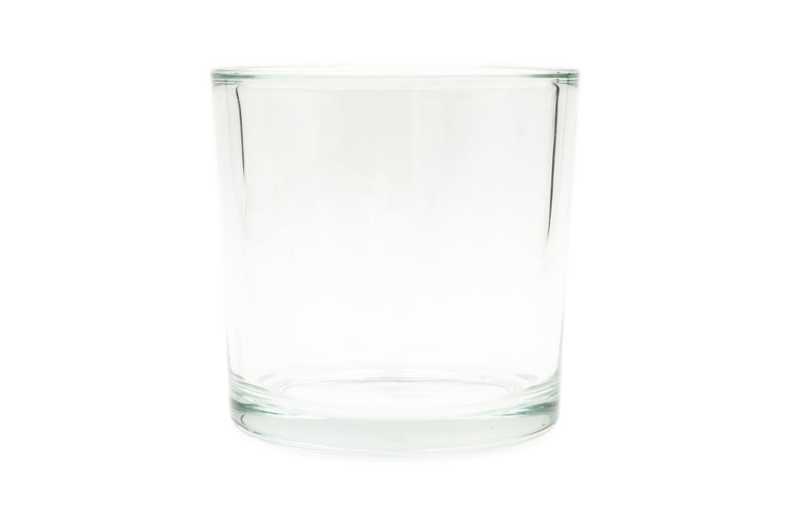Glas Blumentopf, Heavy, H 14 cm, D 14 cm