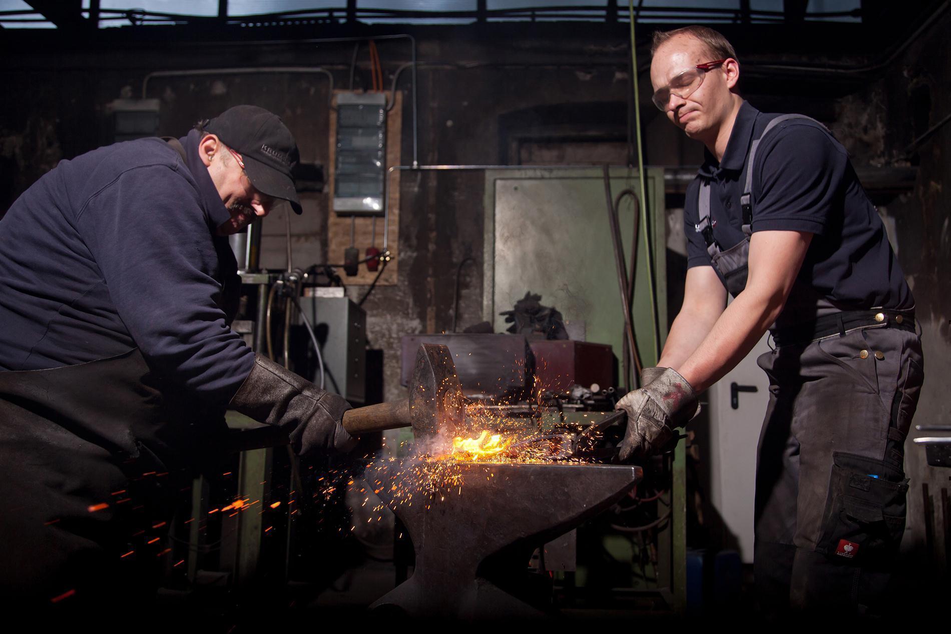 """Krumpholz """"EURO"""" - Straßenrechen schwer, 14 Zinken, aus einem Stück Stahl geschmiedet mit lackiertem Stiel (140 cm)"""