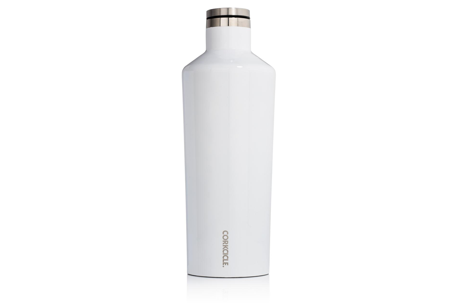 Corkcicle Trinkflasche / Thermo Isolierflasche Gloss White 475 ml Gloss