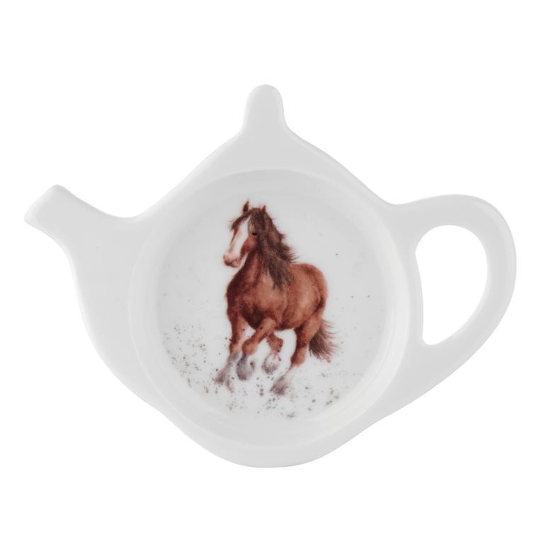 Wrendale Ablageschälchen für Teebeutel aus Porzellan in Tekannenform, Motiv Pferd