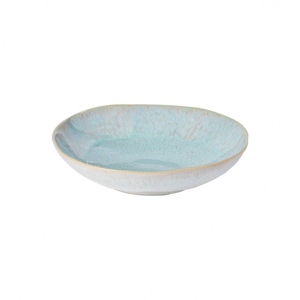 Casafina Eivissa Suppen/Pastateller, innen meerblau, außen beige, gesprenkelt, D 23cm