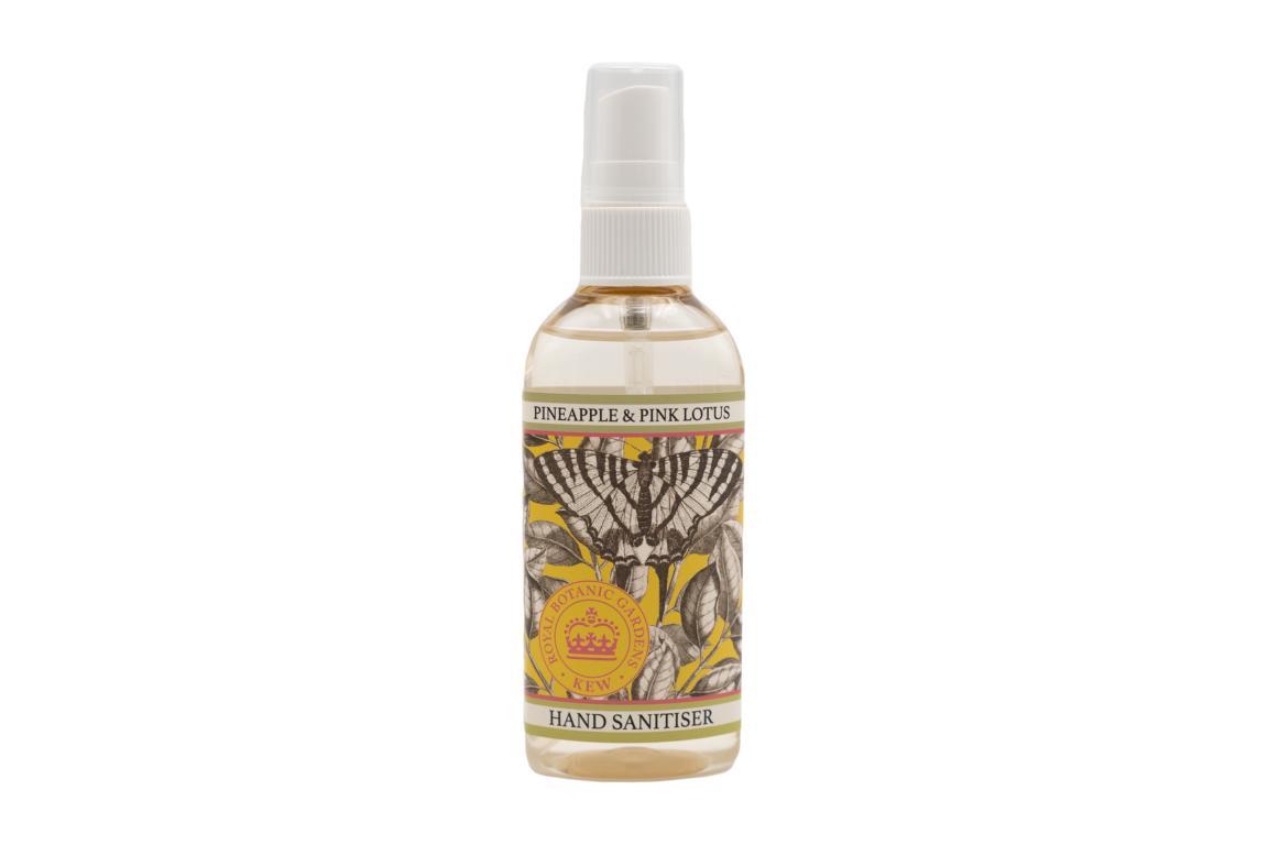 Kew Garden Desinfektionsspray für Hände, Ananas & Pink Lotus, 100 ml