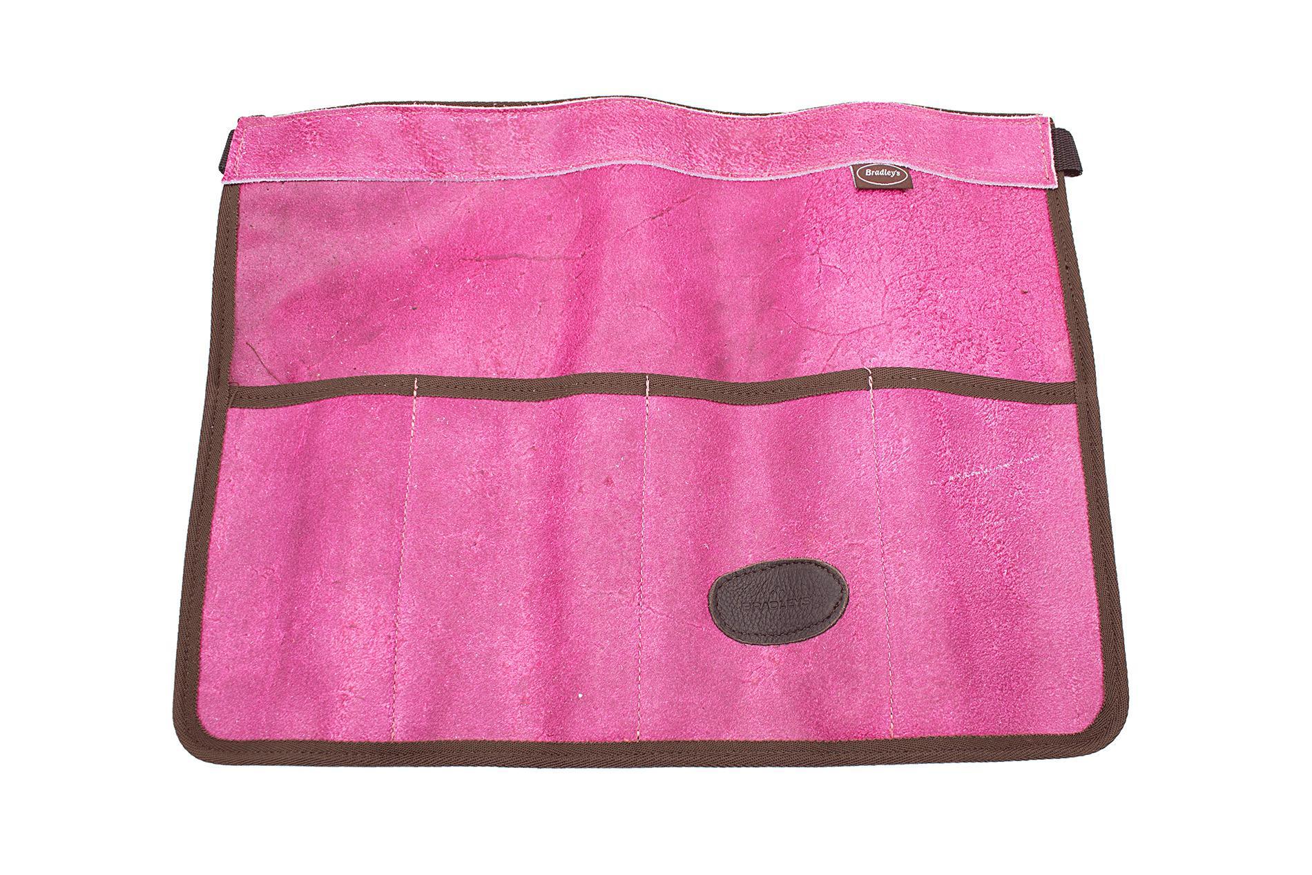 BRADLEYS Halbschürze als Werkzeughalter, Glattleder, pink