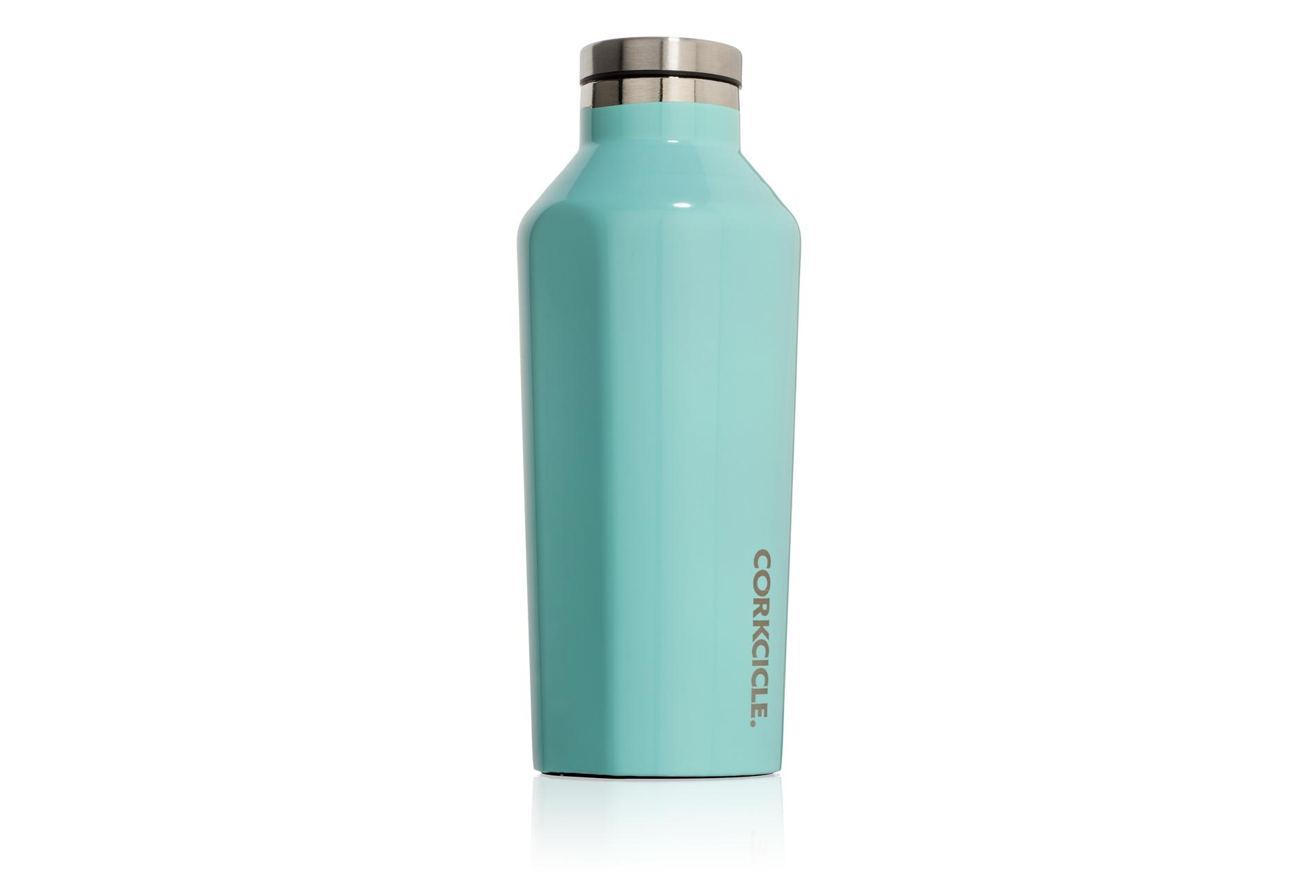 Corkcicle Trinkflasche / Thermo Isolierflasche Gloss Turquoise 265 ml Gloss