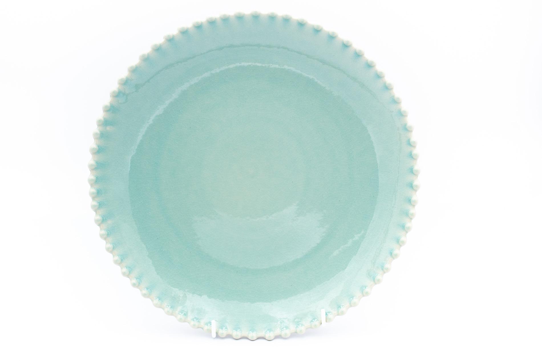Speiseteller Pearl, aqua 28 cm