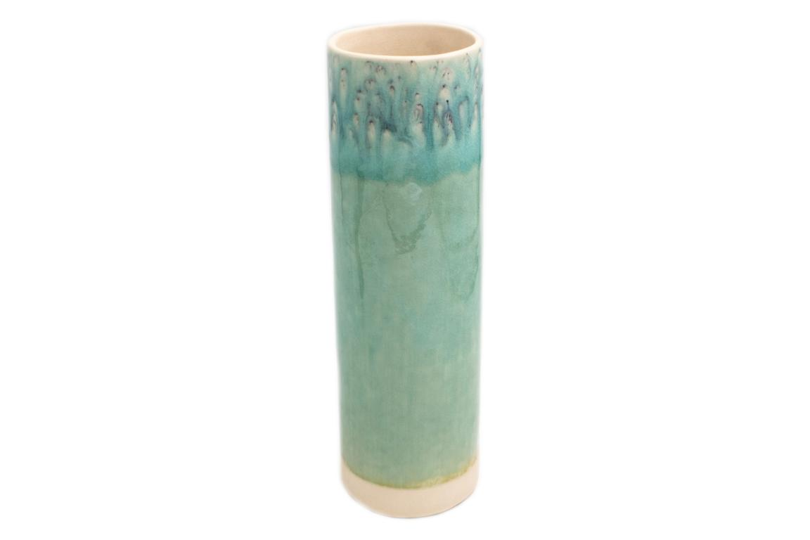 Costa Nova, Zylindervase, Madeira, blau, H 30 D 8,5 cm