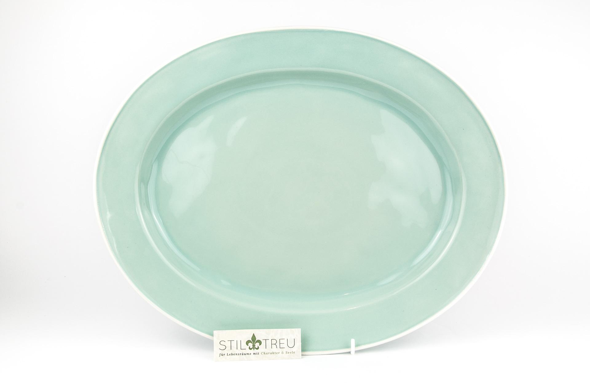 Ovale Platte Astoria, türkis, 40 cm