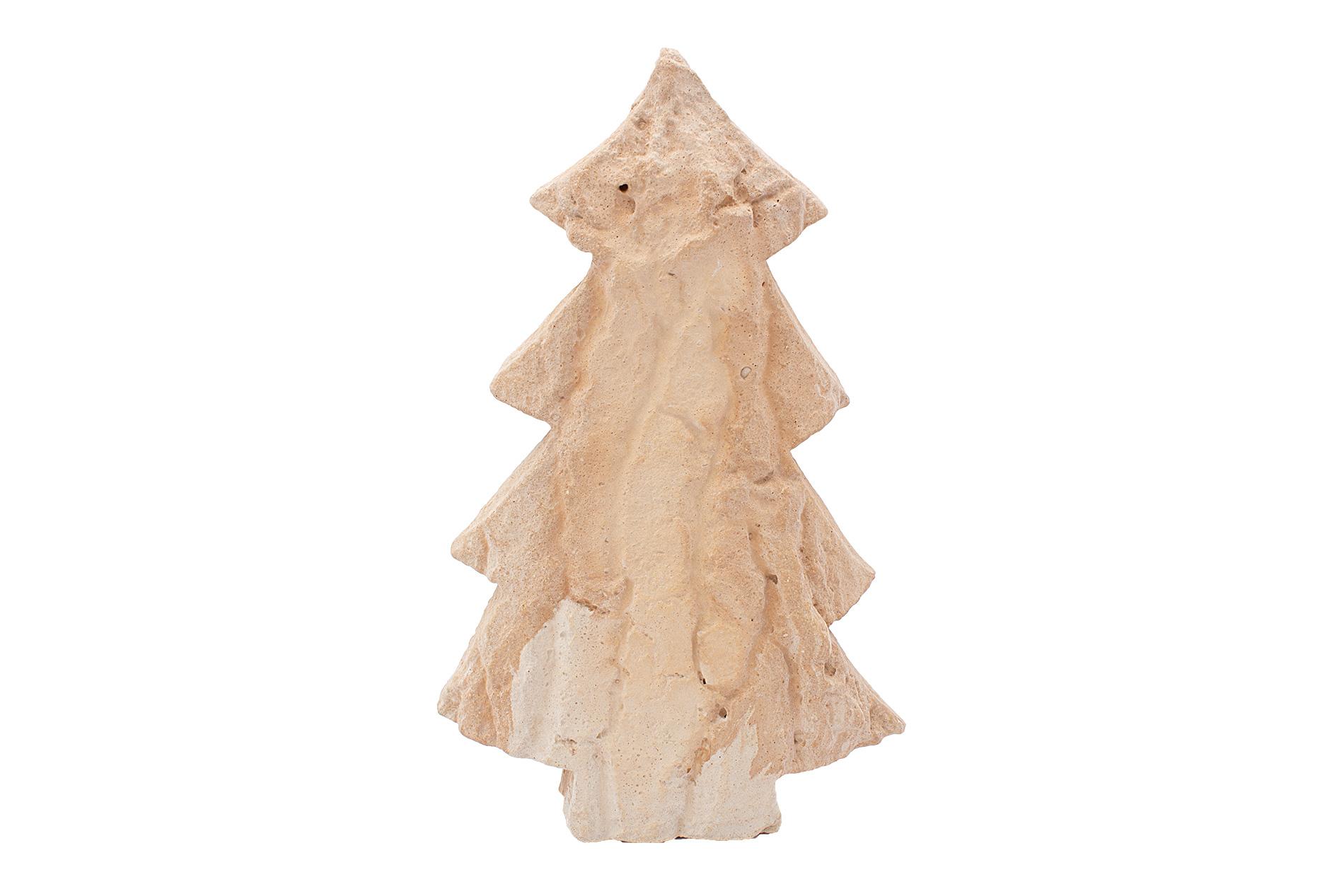 Weihnachtsbaum, Tanne, klein,  mit Rindenstruktur, Sandsteinguss,  25 x 17 x  5 cm