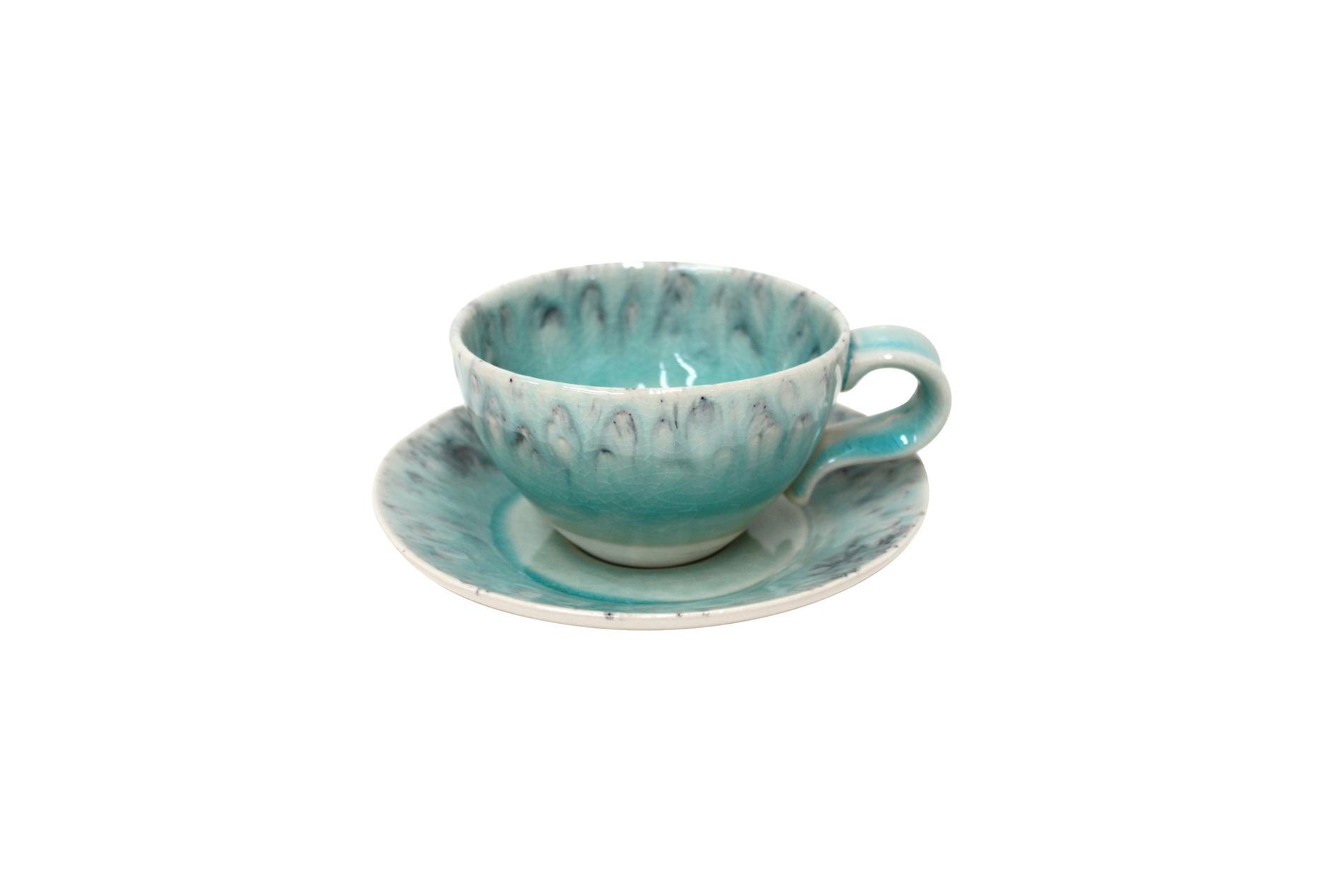 Gedeck / Kaffee / Tee 2-teilig /  Ober- und Untertasse, Madeira, blau