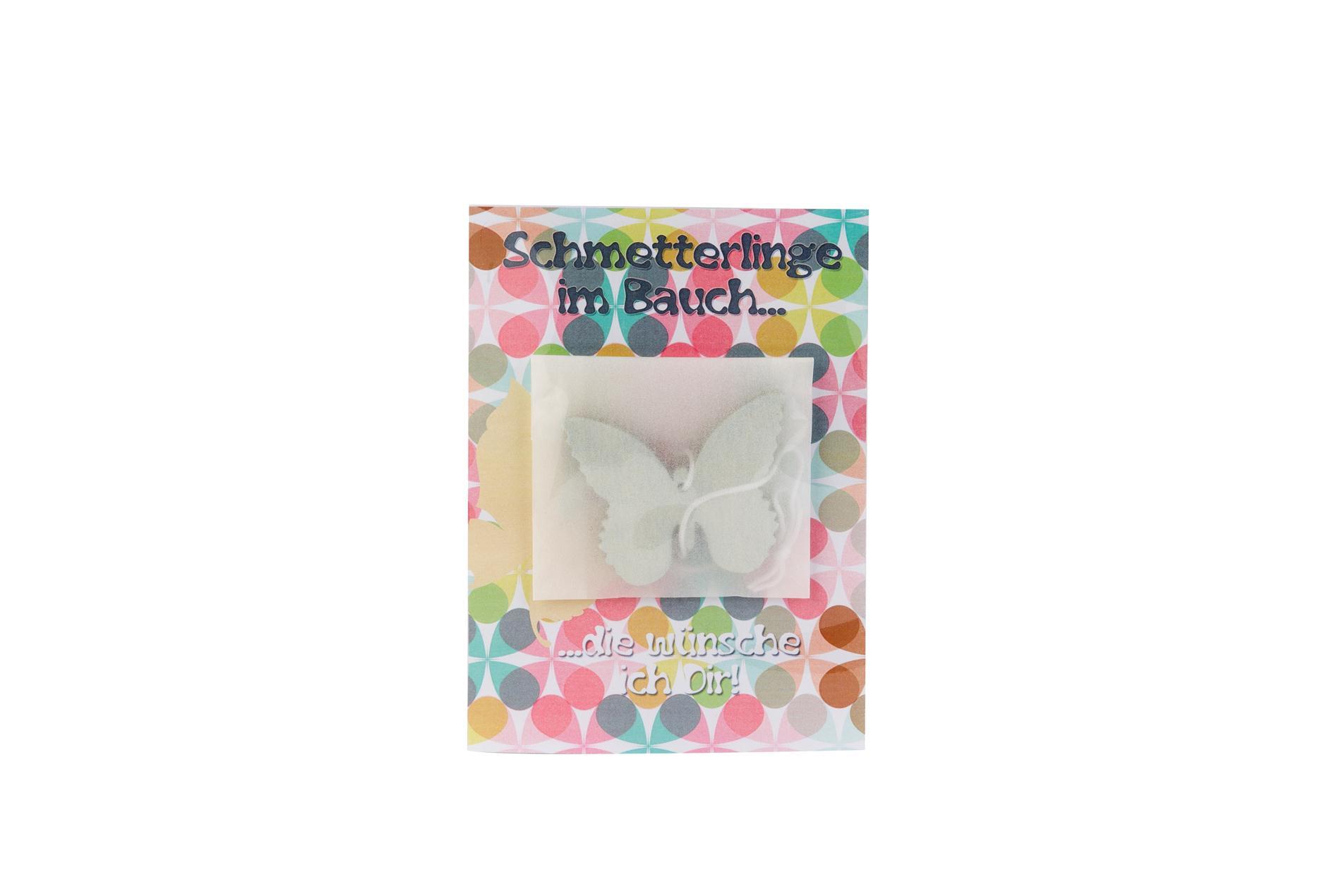 Postkarte Schmetterling im Bauch