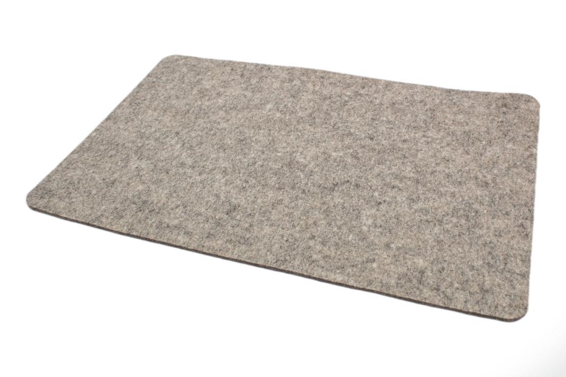 """Tischset """"Rechteck"""", Wollfilz, hellgrau meliert, 30x45x0,3 cm"""