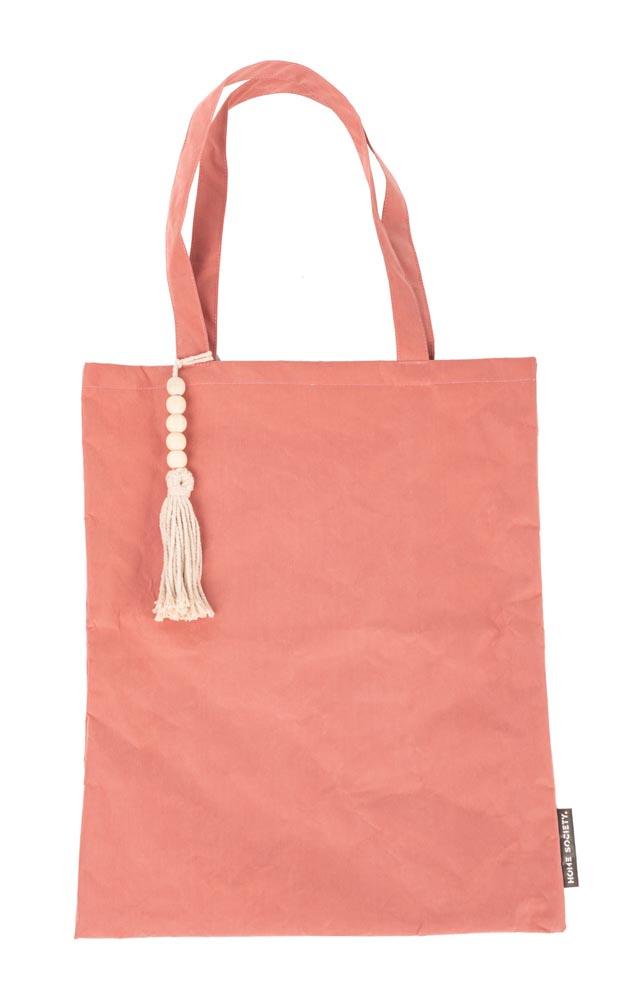 Strandtasche/Schoppingtasche S, Kunststoff in Textiloptik, Farbe nude rosa, 45x37 cm