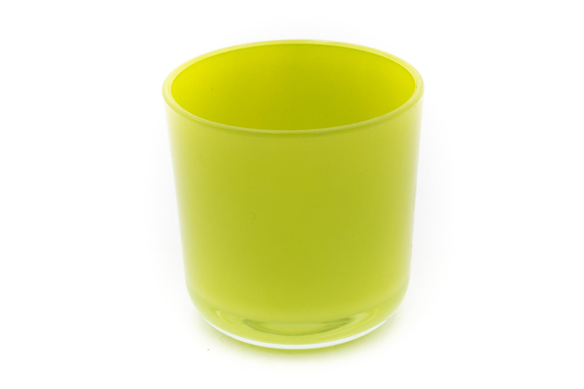Blumentopf Davinci, Glas grün , H 7,8 D7,8