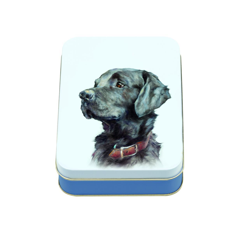 JO STOCKDALE Vorratsdose Motiv schwarzer Labrador 14,5 x 10,5 cm