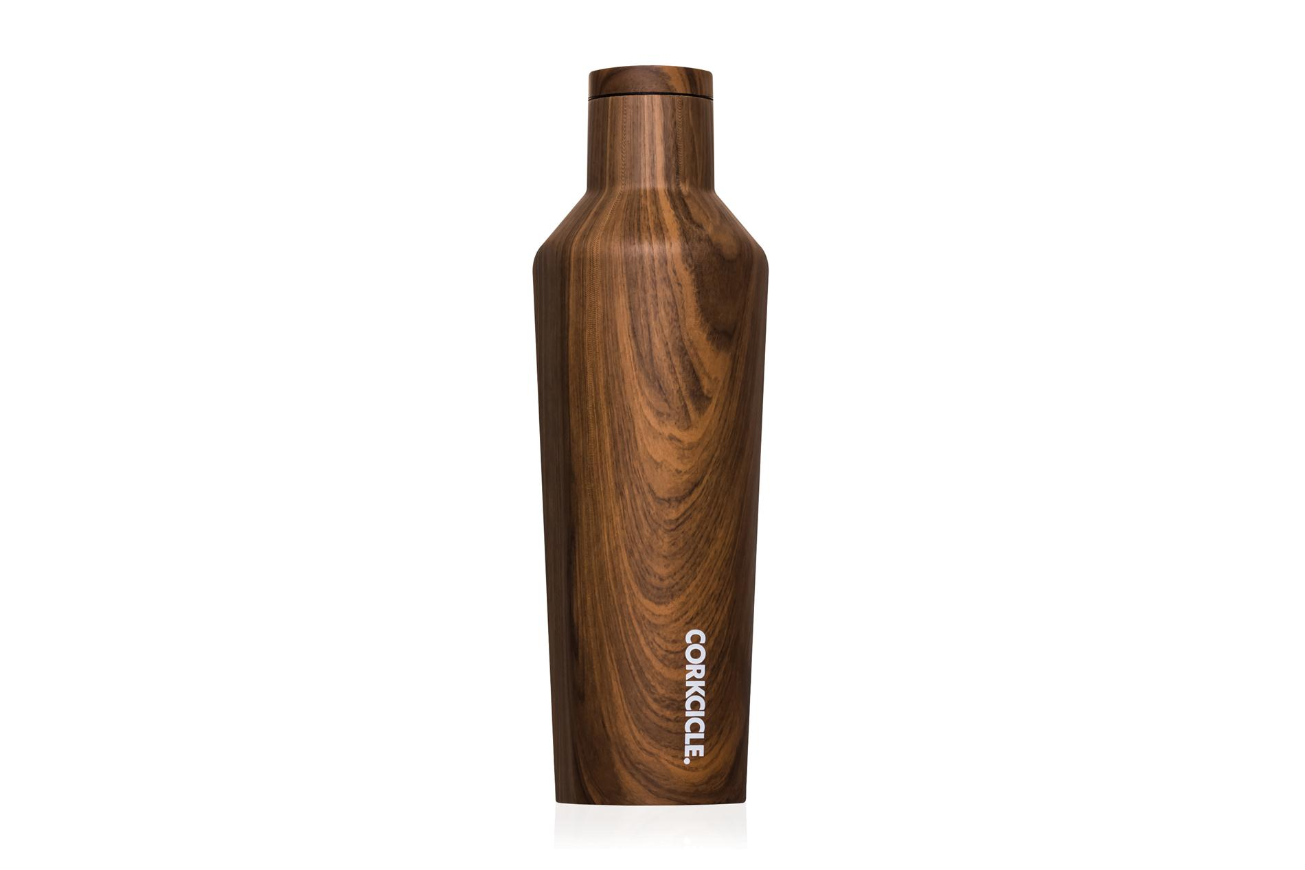 Corkcicle Trinkflasche / Thermo Isolierflasche Walnut 475 ml Wood