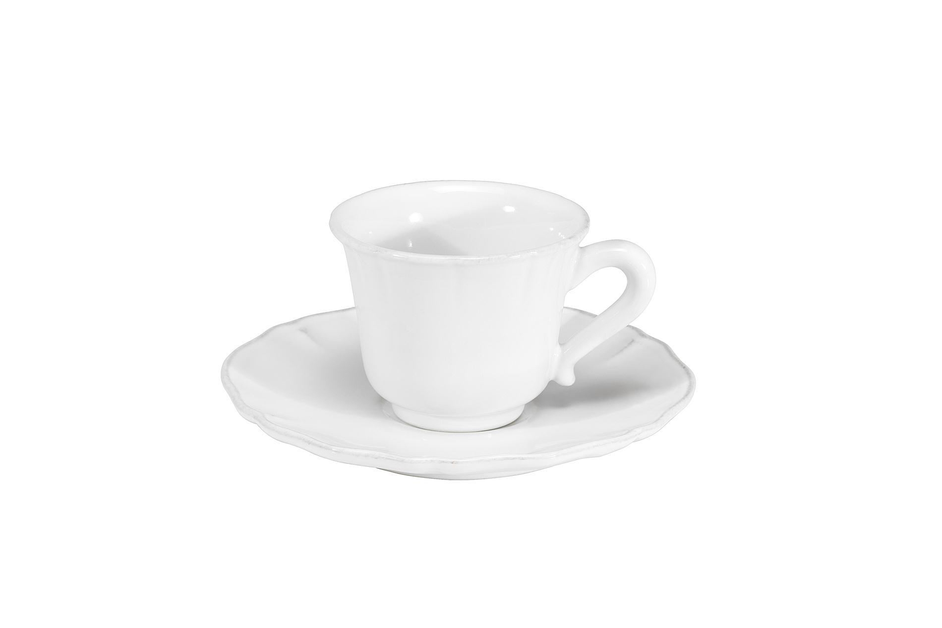 Gedeck Espressotasse und Untertasse Alentejo weiß