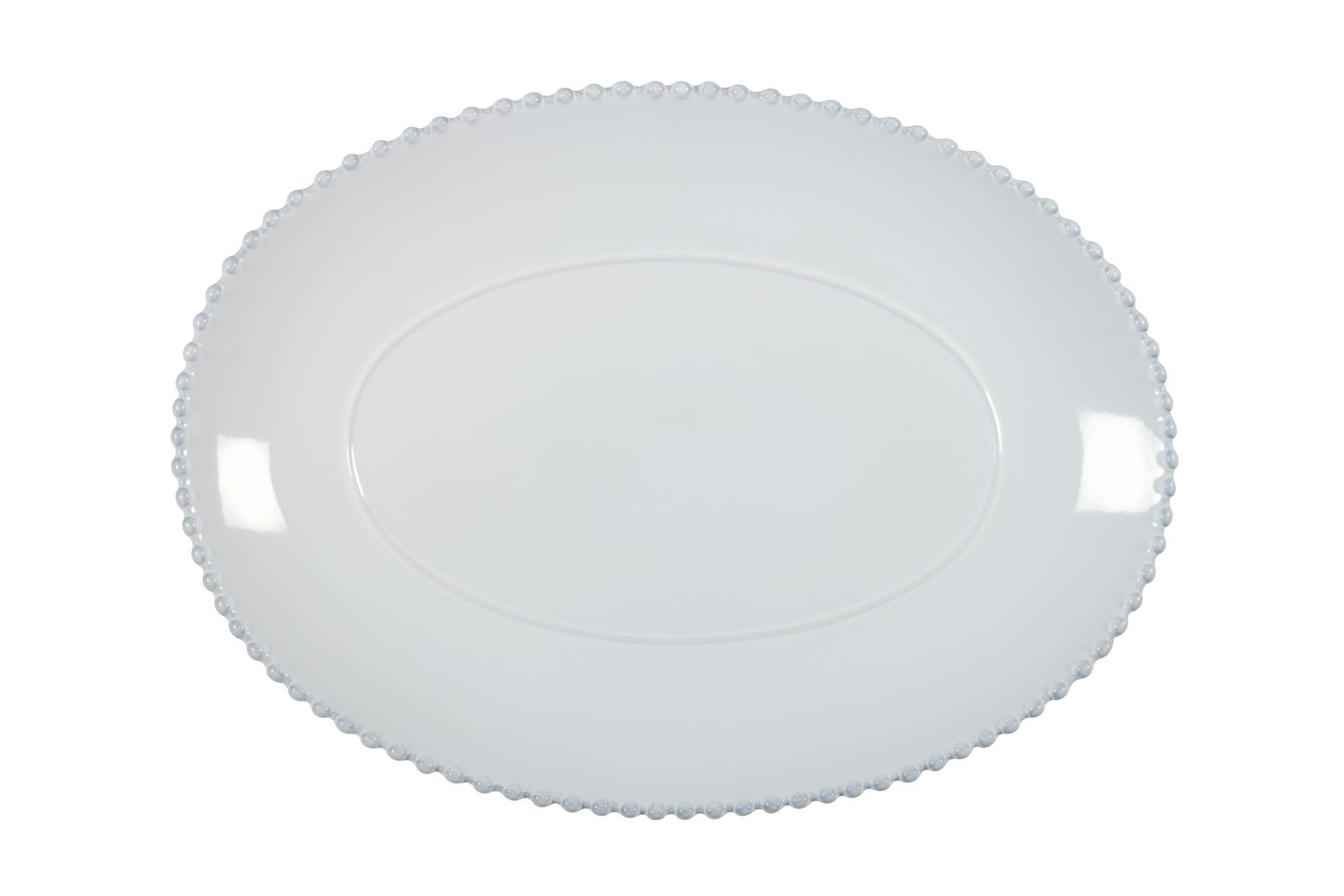 Servierplatte oval Pearl weiß, 40 cm