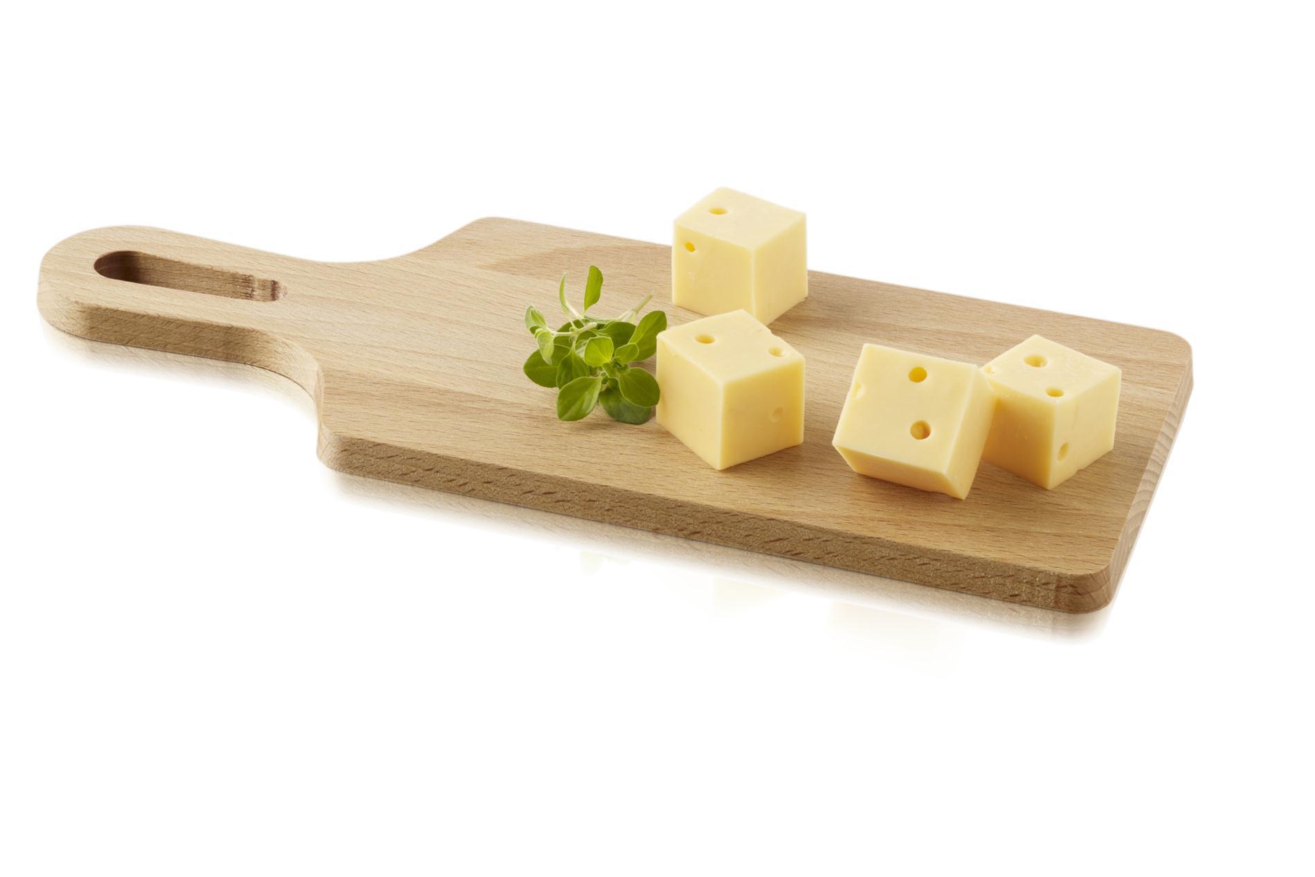 BOSKA, Käsebrett mit Griff zum Aufhängen, Buchenholz, ca. 19 x12 cm (ohne Griff)