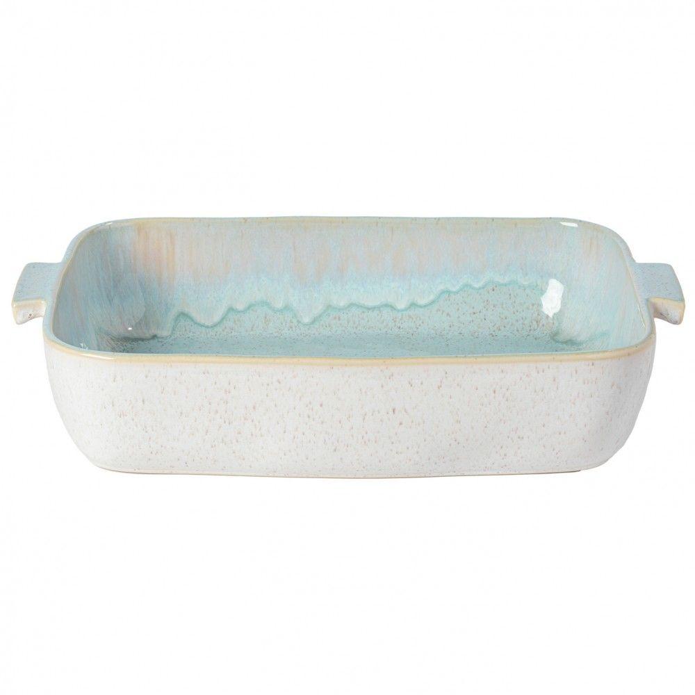 Casafina Eivissa Back/Auflaufform, innen meerblau, außen beige, gesprenkelt, 40x28x8cm