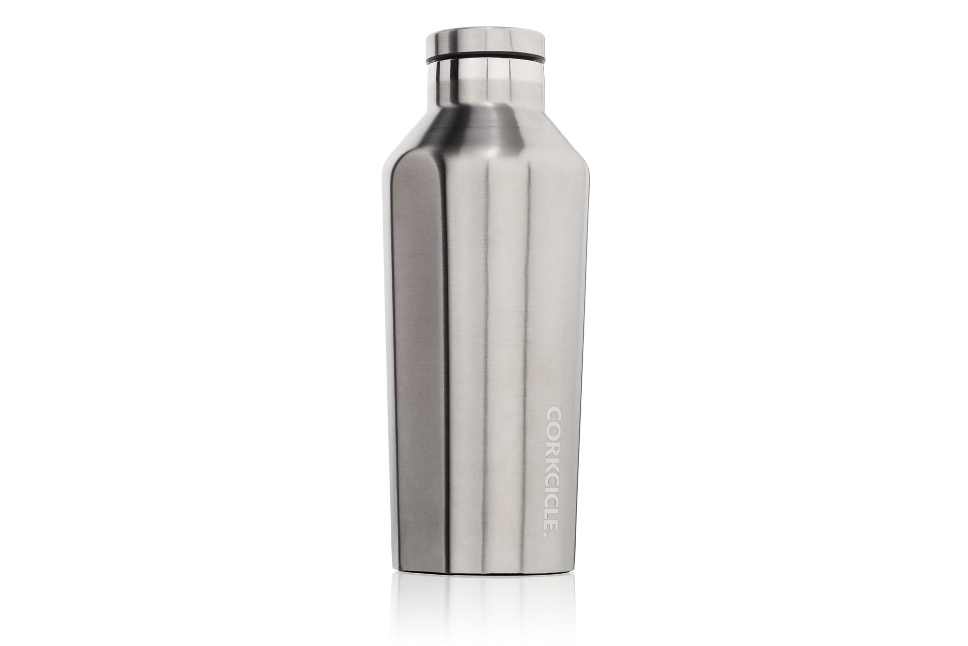 Corkcicle Trinkflasche / Thermo Isolierflasche Brushed steel 265 ml Gloss