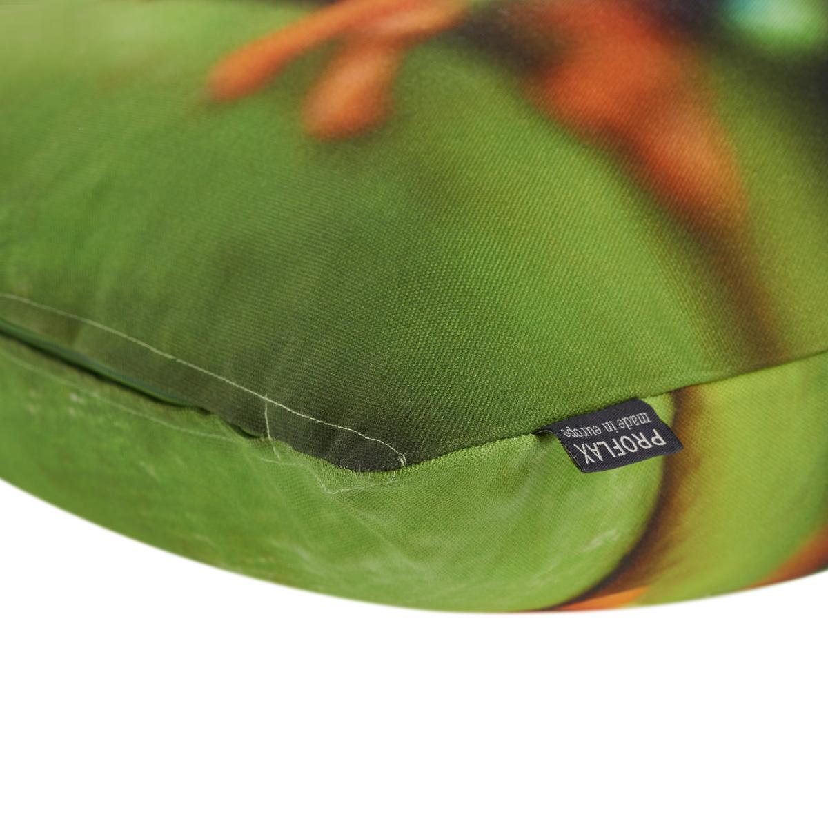 PROFLAX Kissenhülle Froggy, Motiv Frosch, Digitaldruck, 40x40cm, 100% Baumwolle