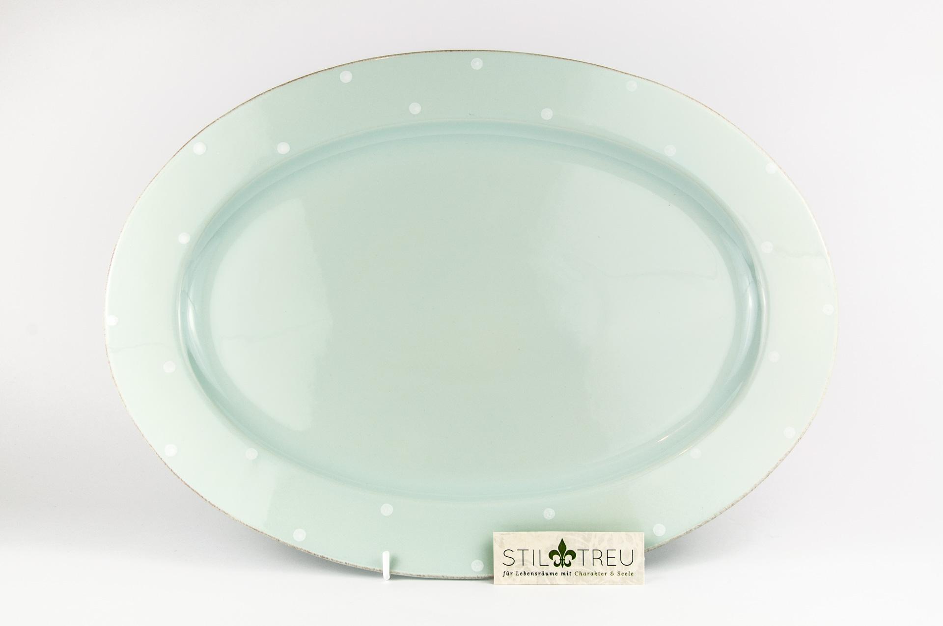 Ovale Platte Chitra, blau, 43 cm