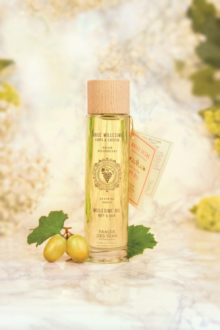 Panier des Sens Trockenes Öl für Körper und Haar, Traube,  100 ml