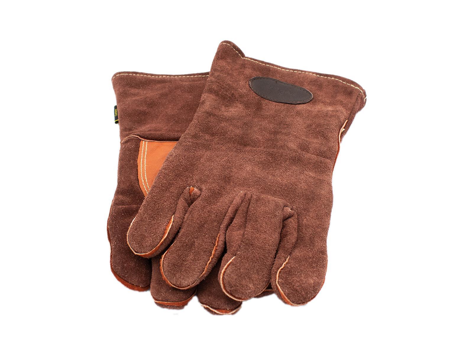 BRADLEYS Handschuhe für Holzfäller, Wildleder, braun