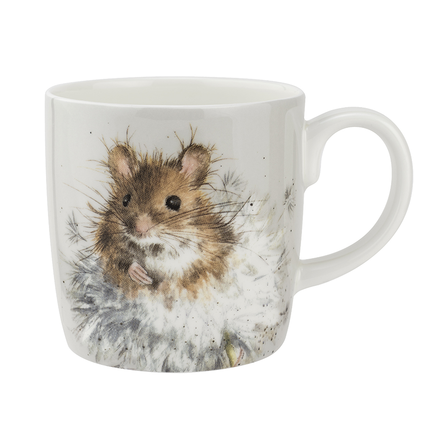 """Wrendale Becher,  """"Dandelion"""", Motiv Hamster auf Pusteblume, 0,4 L"""