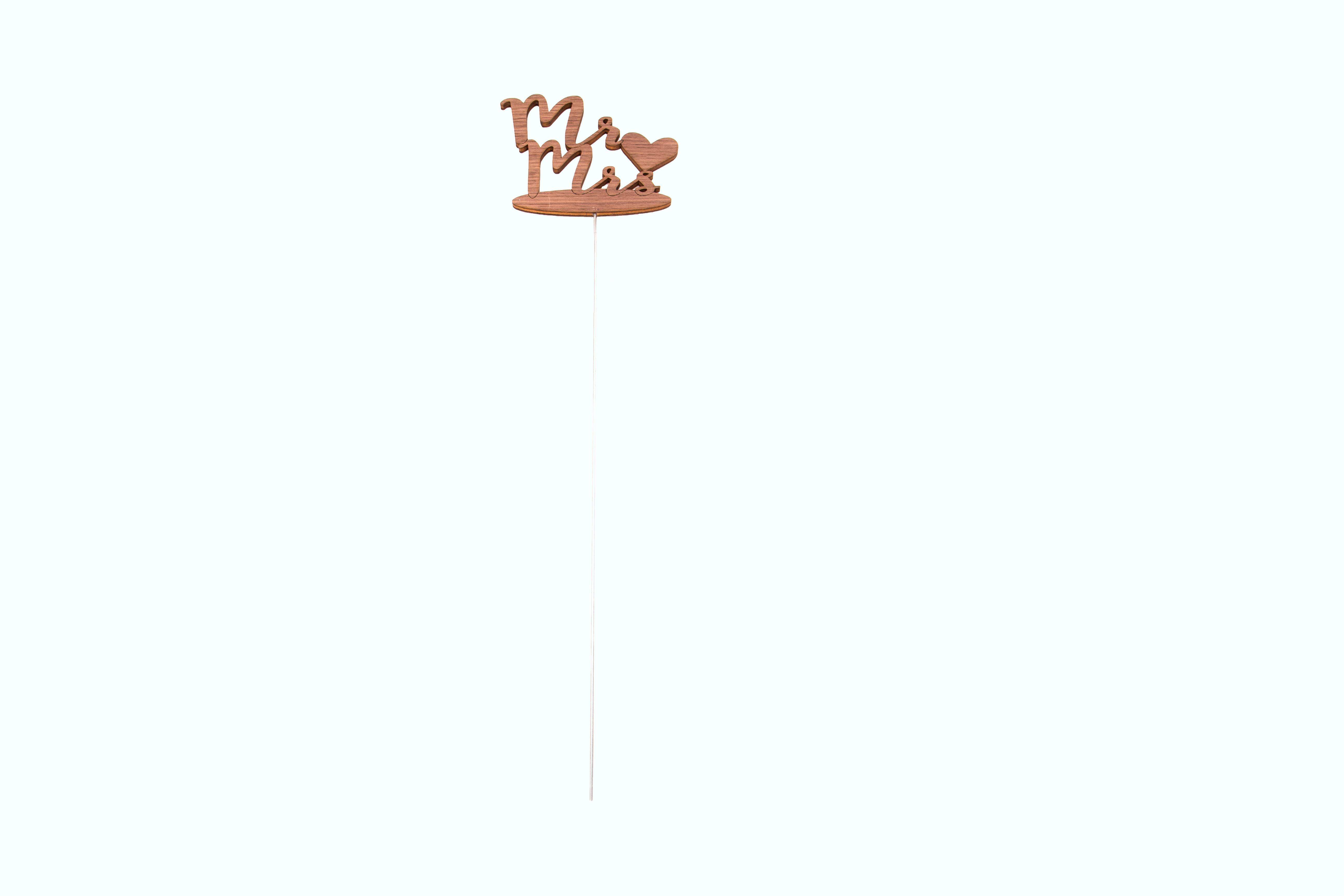 """Pflanzenstecker/Blumenstecker Schriftzug """"Mr & Mrs"""" aus Holz, 43x12,5 cm"""
