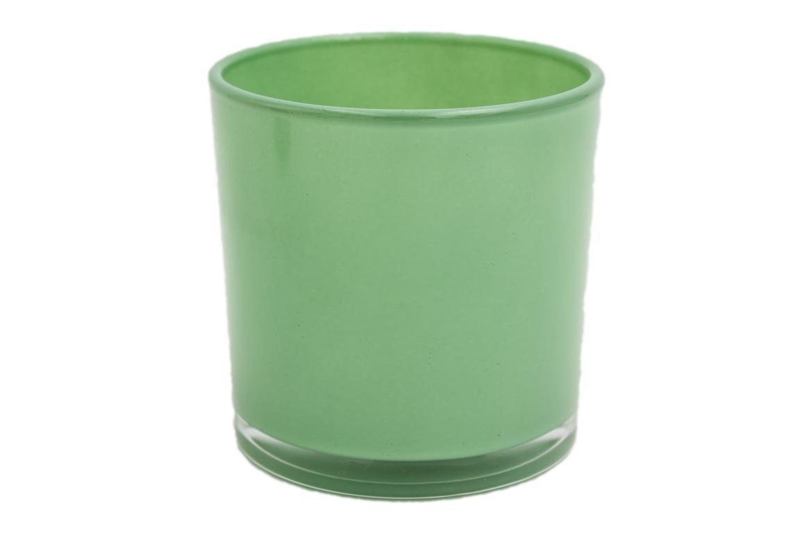 Blumenübertopf, grün, 10x10 cm