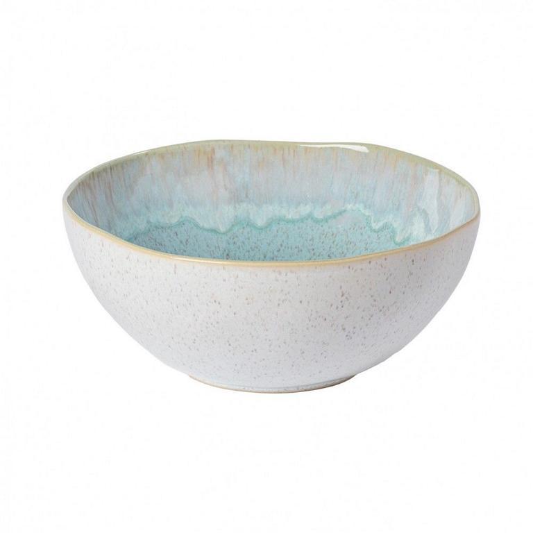 Casafina Eivissa Salatschale/Servierschale, innen meerblau, außen beige, gesprenkelt, D 28cm, 3,5L