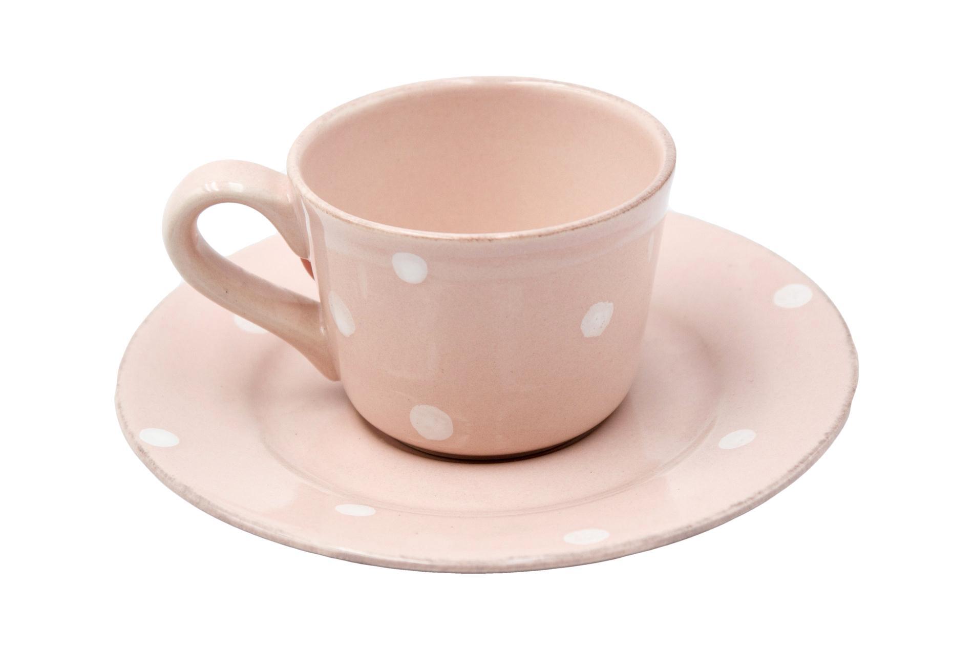 Gedeck Espressotasse und Untertasse CHITRA, rosa, 0,08 l