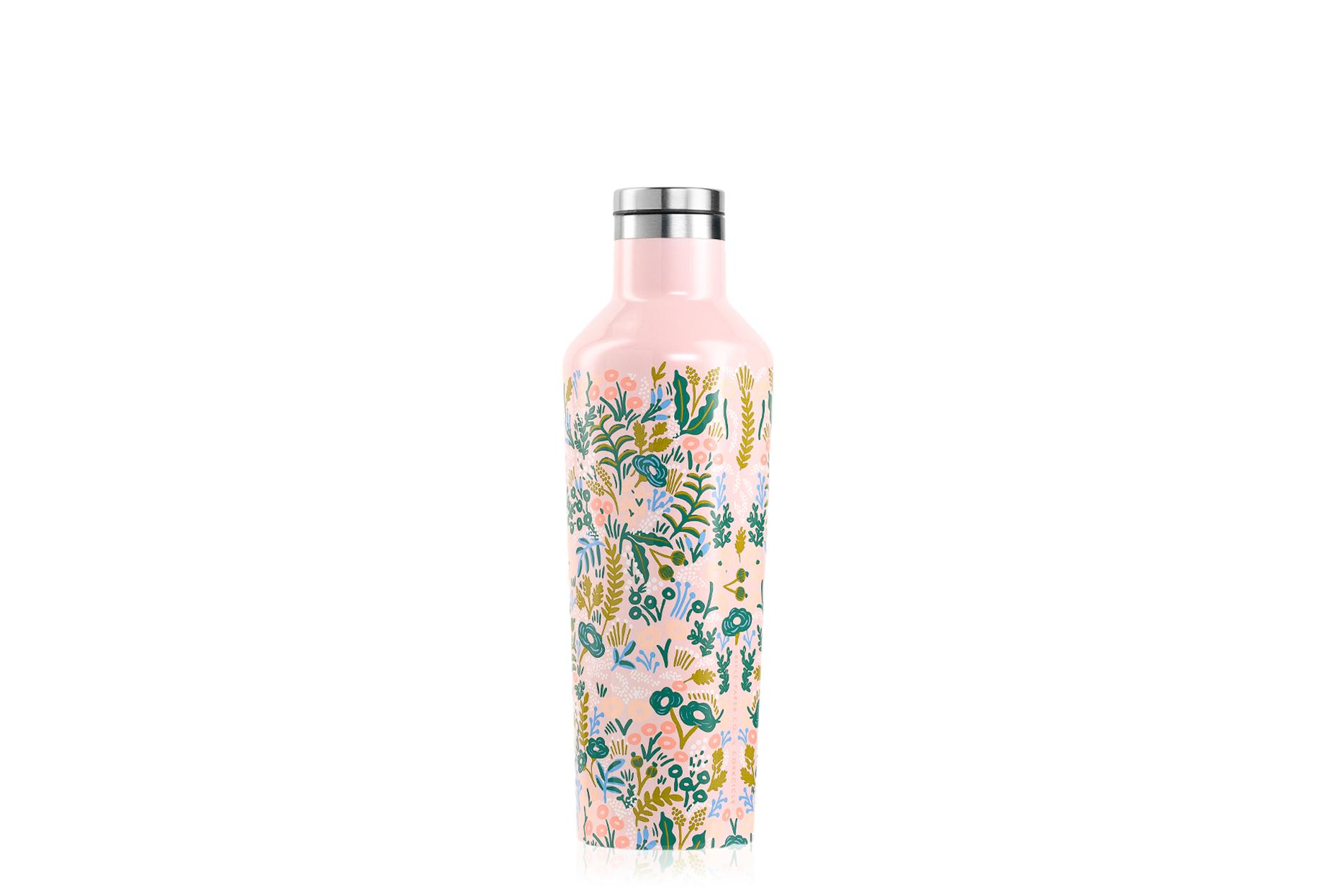 Corkcicle Trinkflasche / Thermo Isolierflasche Tapestry (Rose) 475 ml Rifle Paper