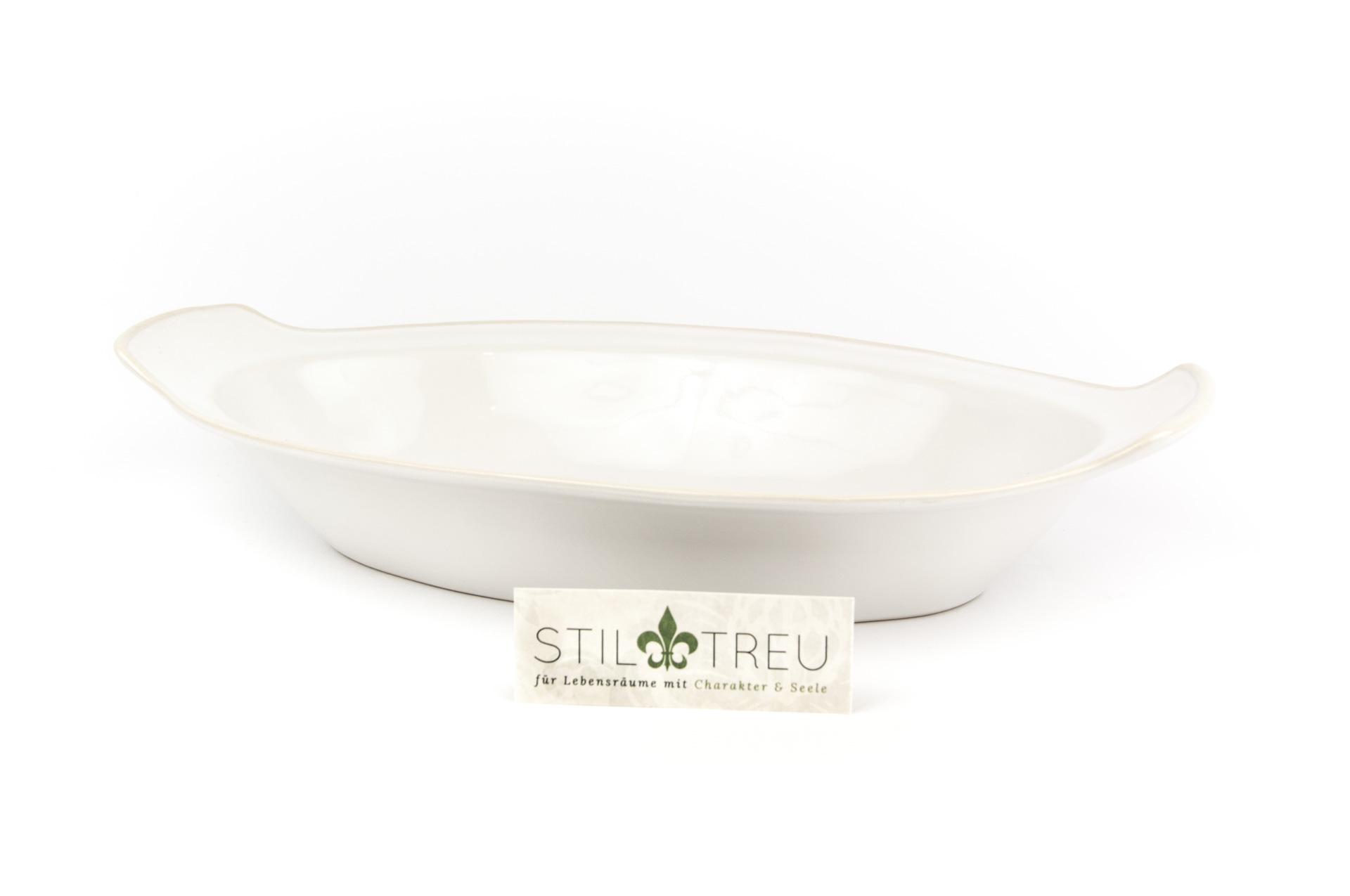 Gratinschale Astoria oval, weiß, 33 cm