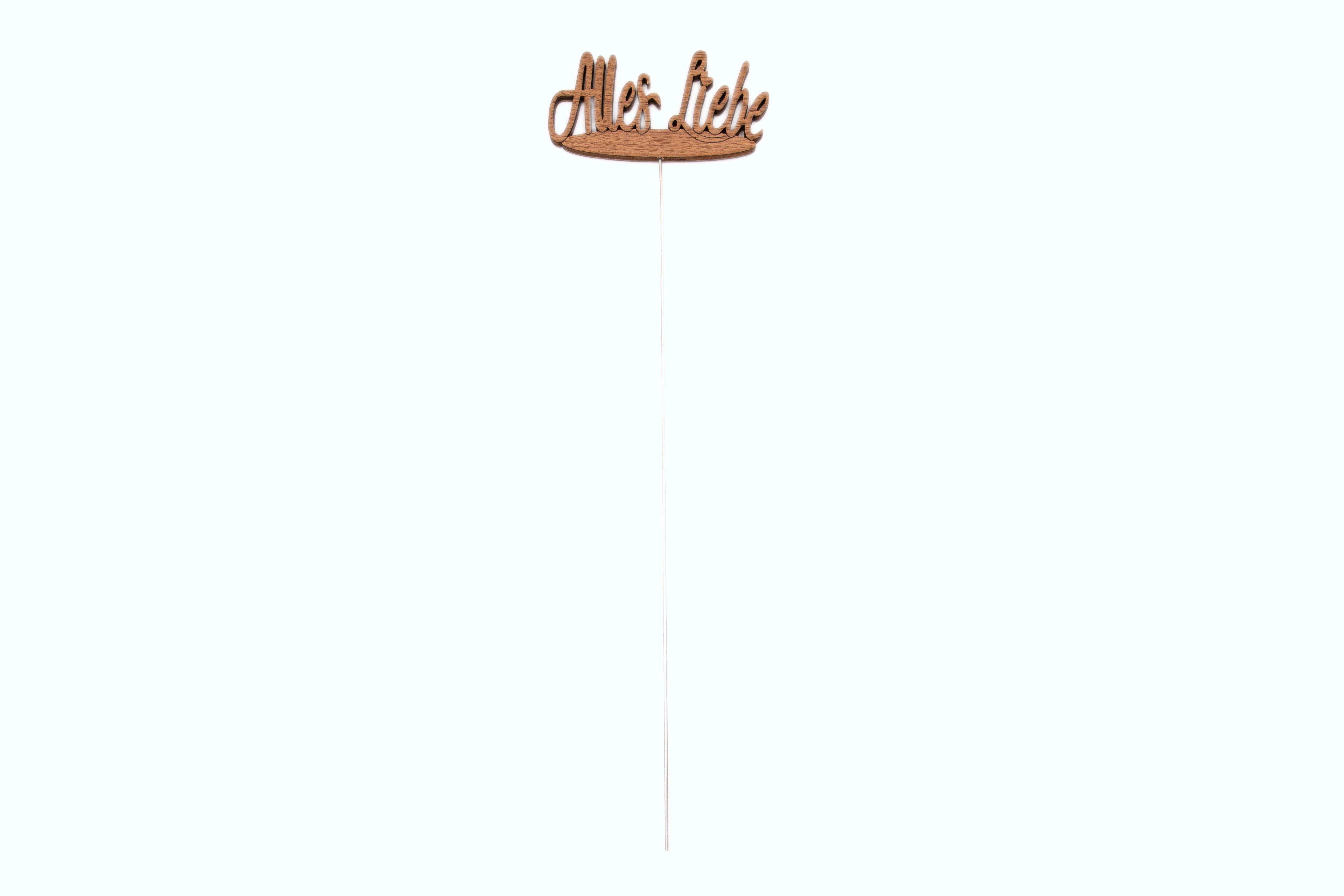 """Pflanzenstecker/Blumenstecker Schriftzug """"Alles Liebe"""" aus Holz, 43x12,5 cm"""