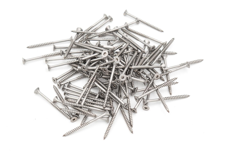 Edelstahlschrauben (100 Stück, 4,5x60mm, Torx) für Staketenzaun-Befestigung