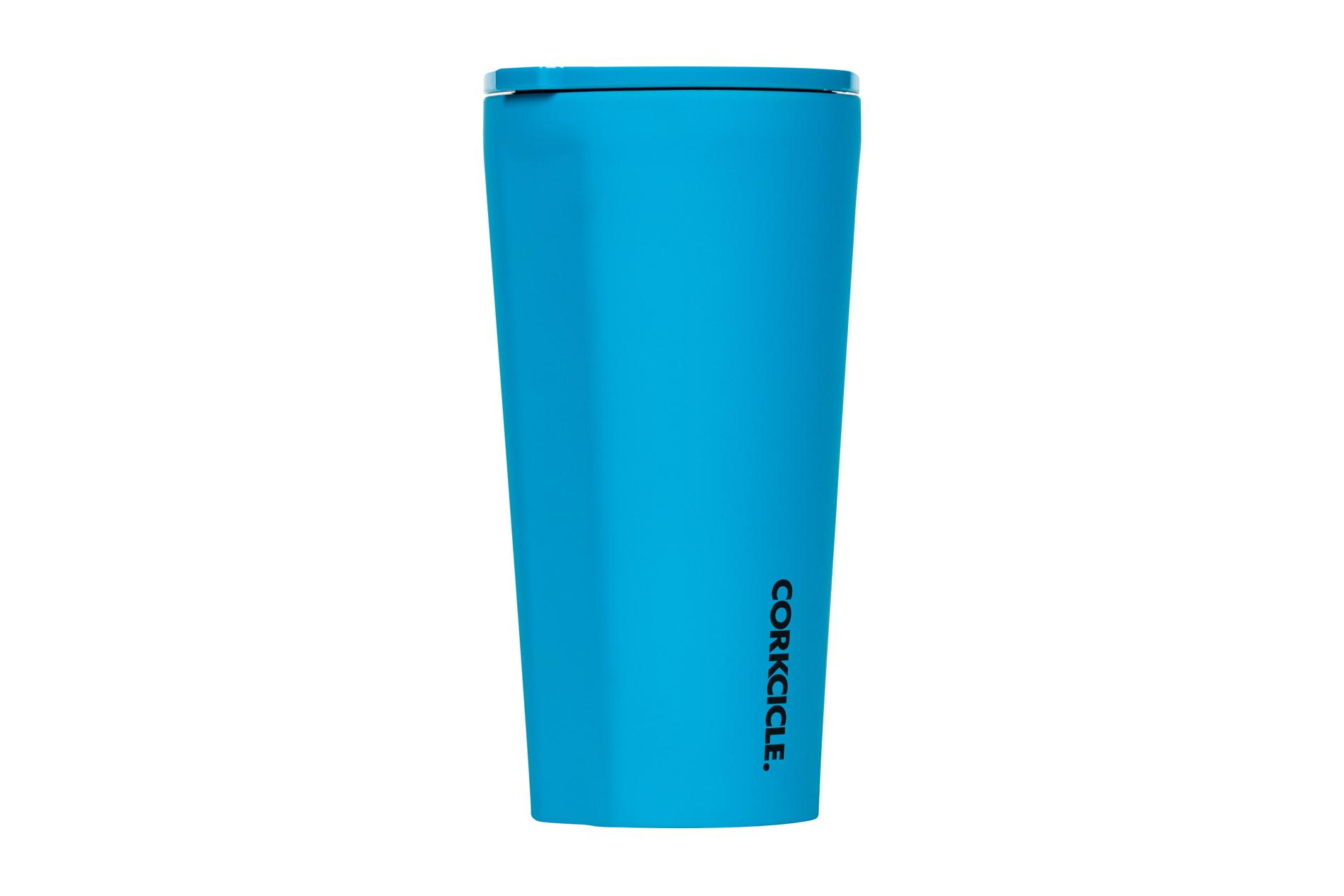Corkcicle Becher / Thermo Isolierbecher Blue 475 ml Neon